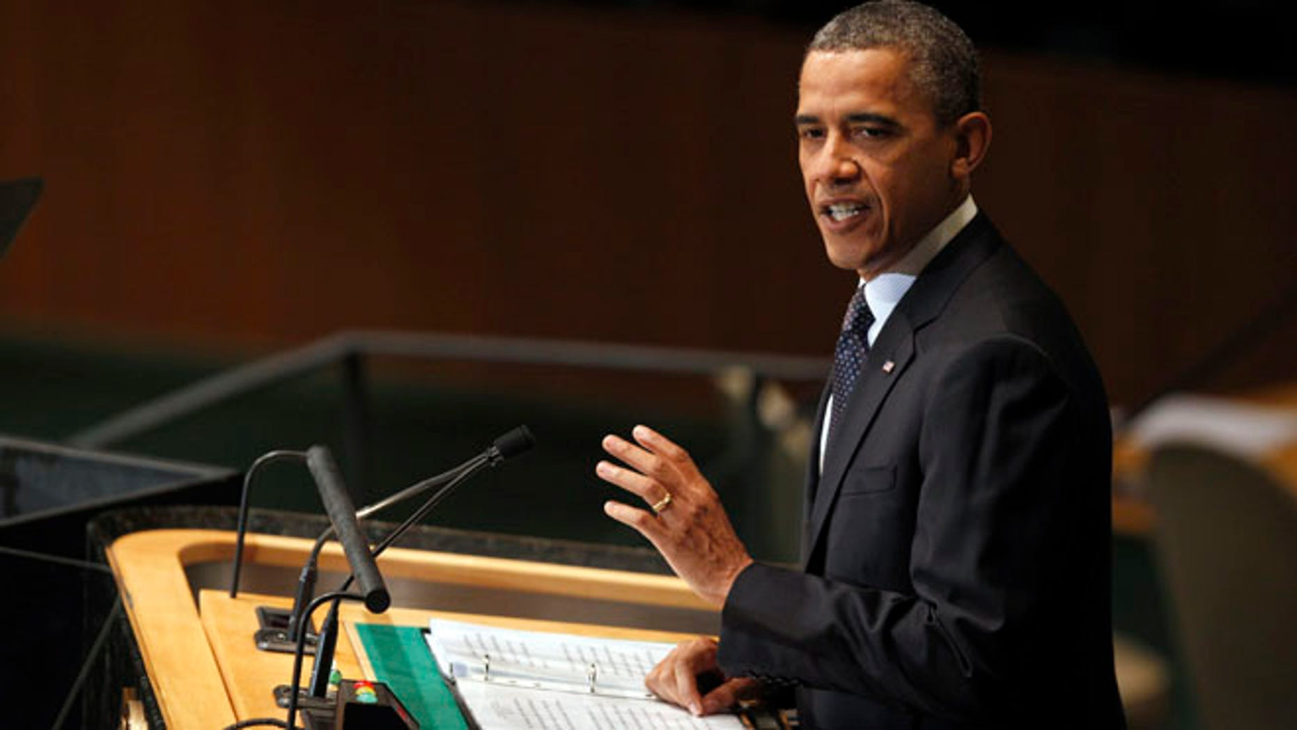Sept. 25, 2012: President Obama addresses the 67th session of the United Nations General Assembly at U.N. headquarters.