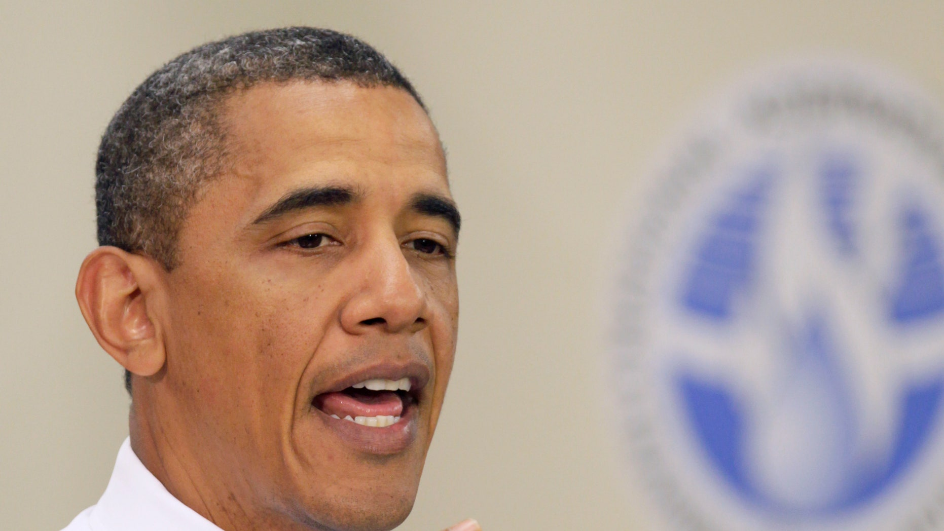 President Obama speaks at Northern Virginia Community College Alexandria, Va. Campus, Wednesday, June 8, 2011, to highlight the need to prepare the workforce to compete for manufacturing jobs across the country. (AP)