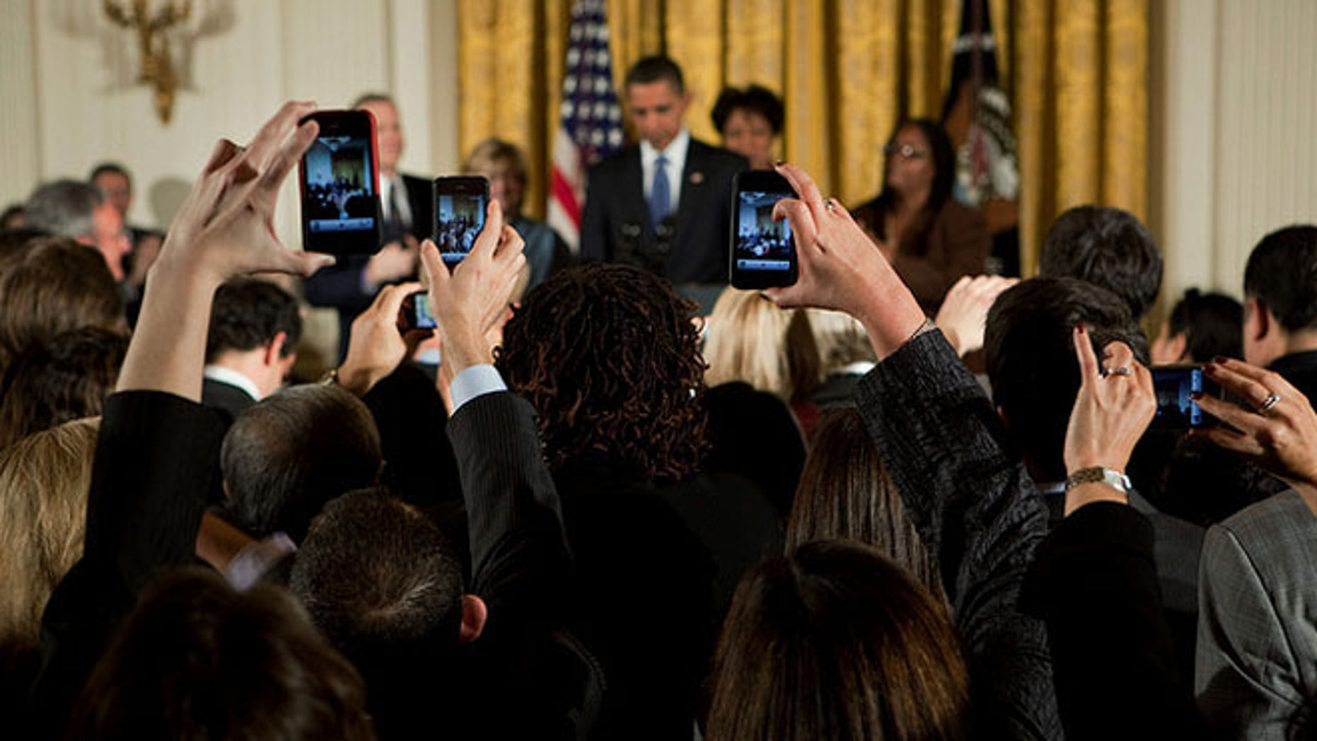 Oct. 28, 2009: Shown here is President Obama and guests at a reception commemorating the enactment of expanded federal hate crimes legislation.