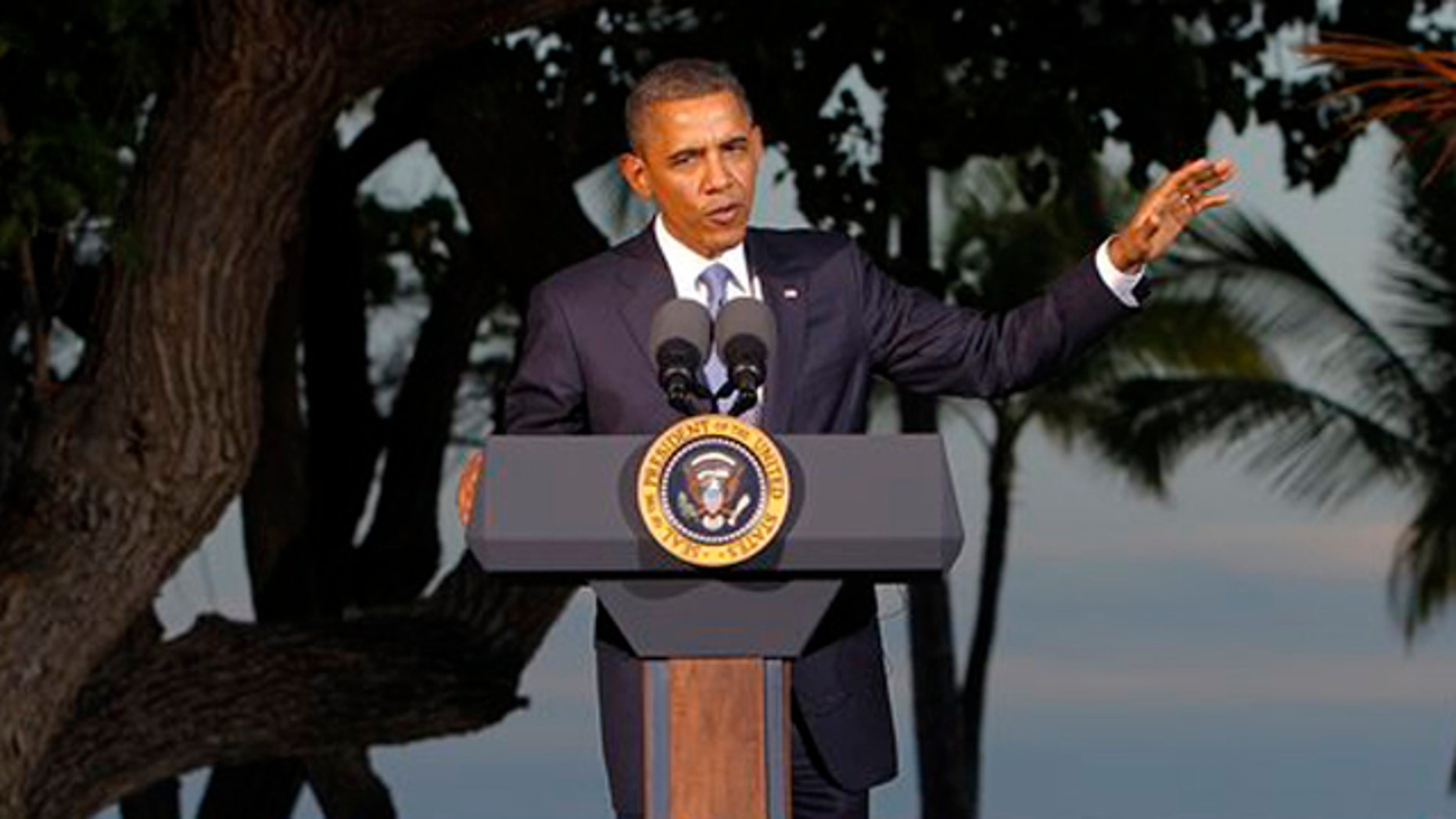 Nov. 13, 2011: President Obama speaks during his closing press conference at the Asia-Pacific Economic Cooperation summit near Honolulu, Hawaii.