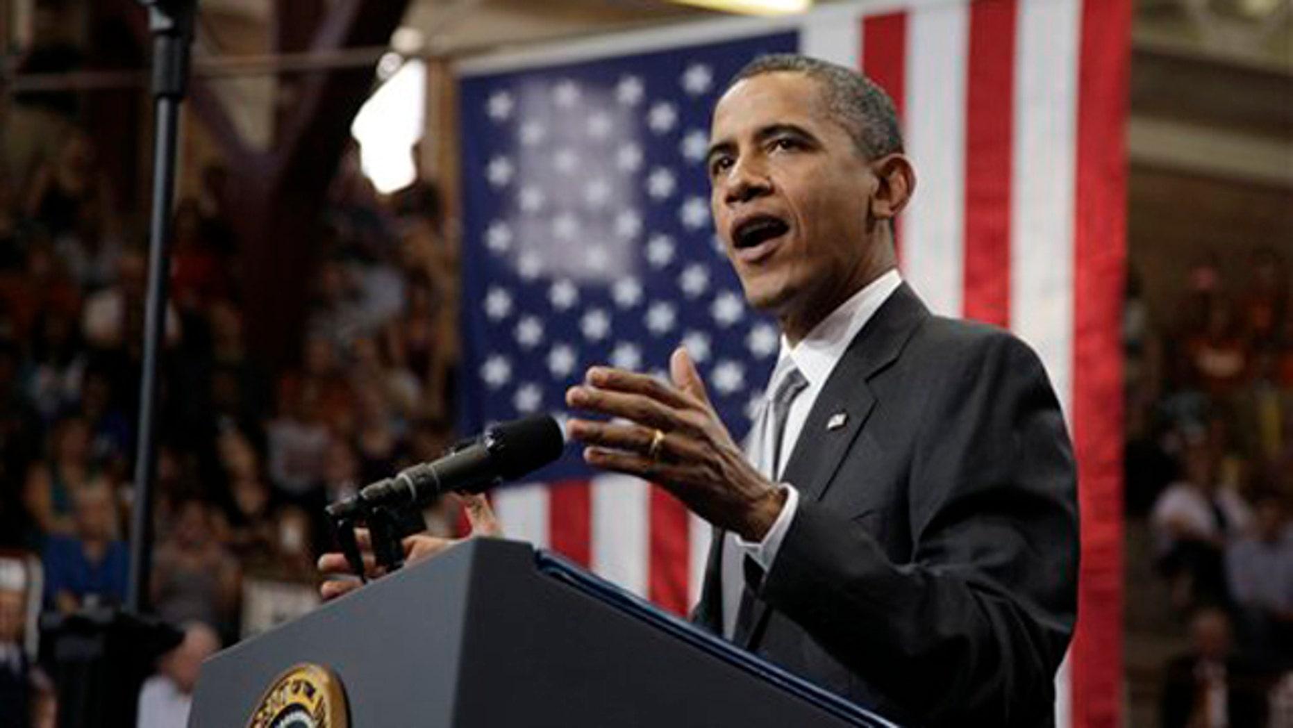 President Obama speaks at a fundraiser Aug. 9 in Austin, Texas. (AP Photo)