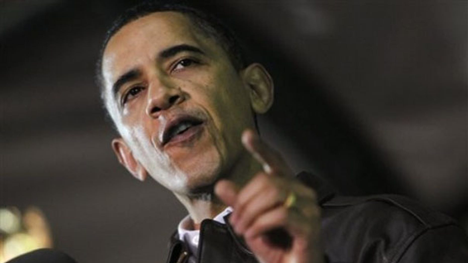 President Obama rallies troops at Bagram Air Base in Afghanistan March 28. (AP Photo)