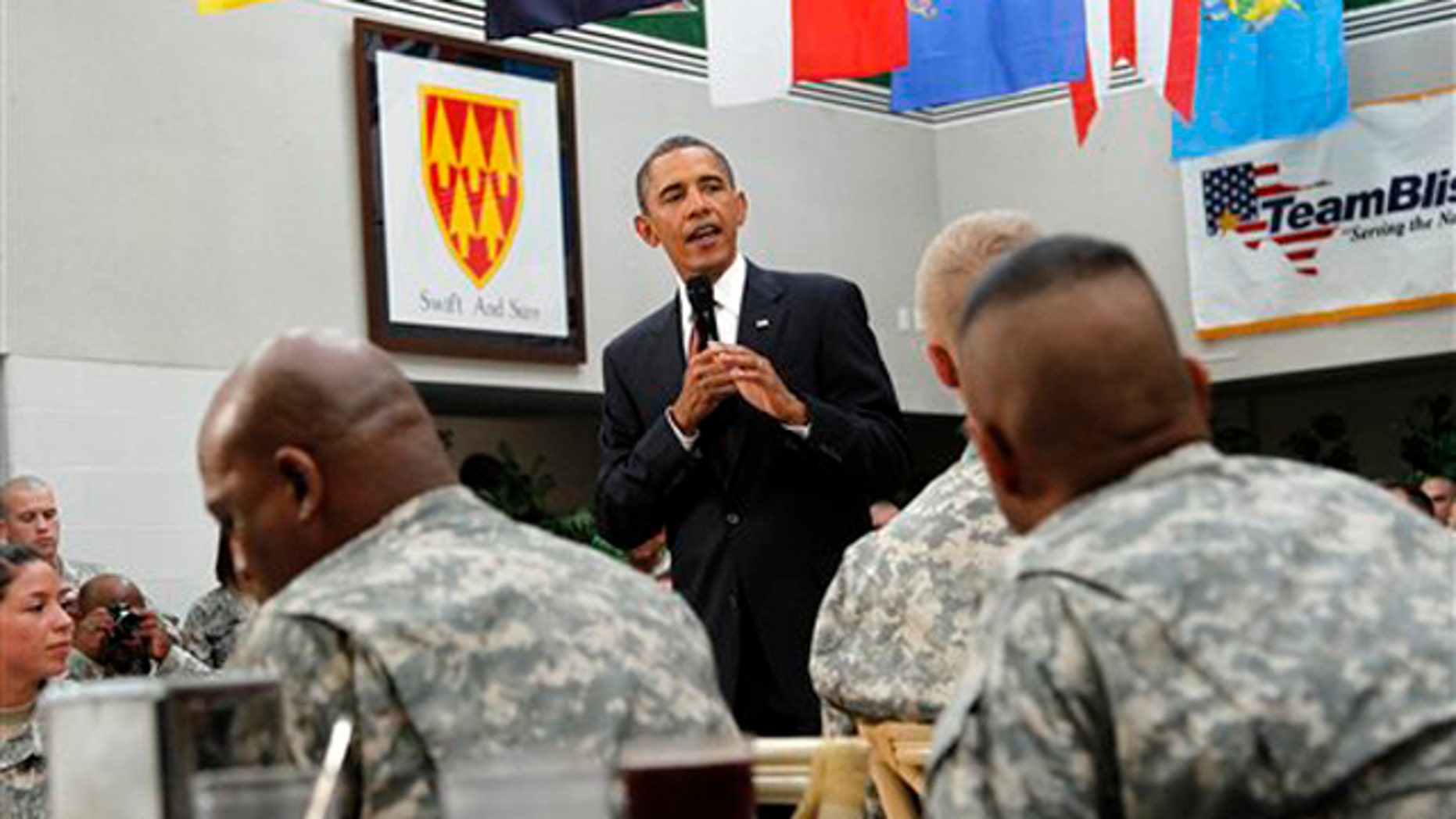 President Obama speaks to members of the military Aug. 31 at Fort Bliss in El Paso, Texas. (AP Photo)