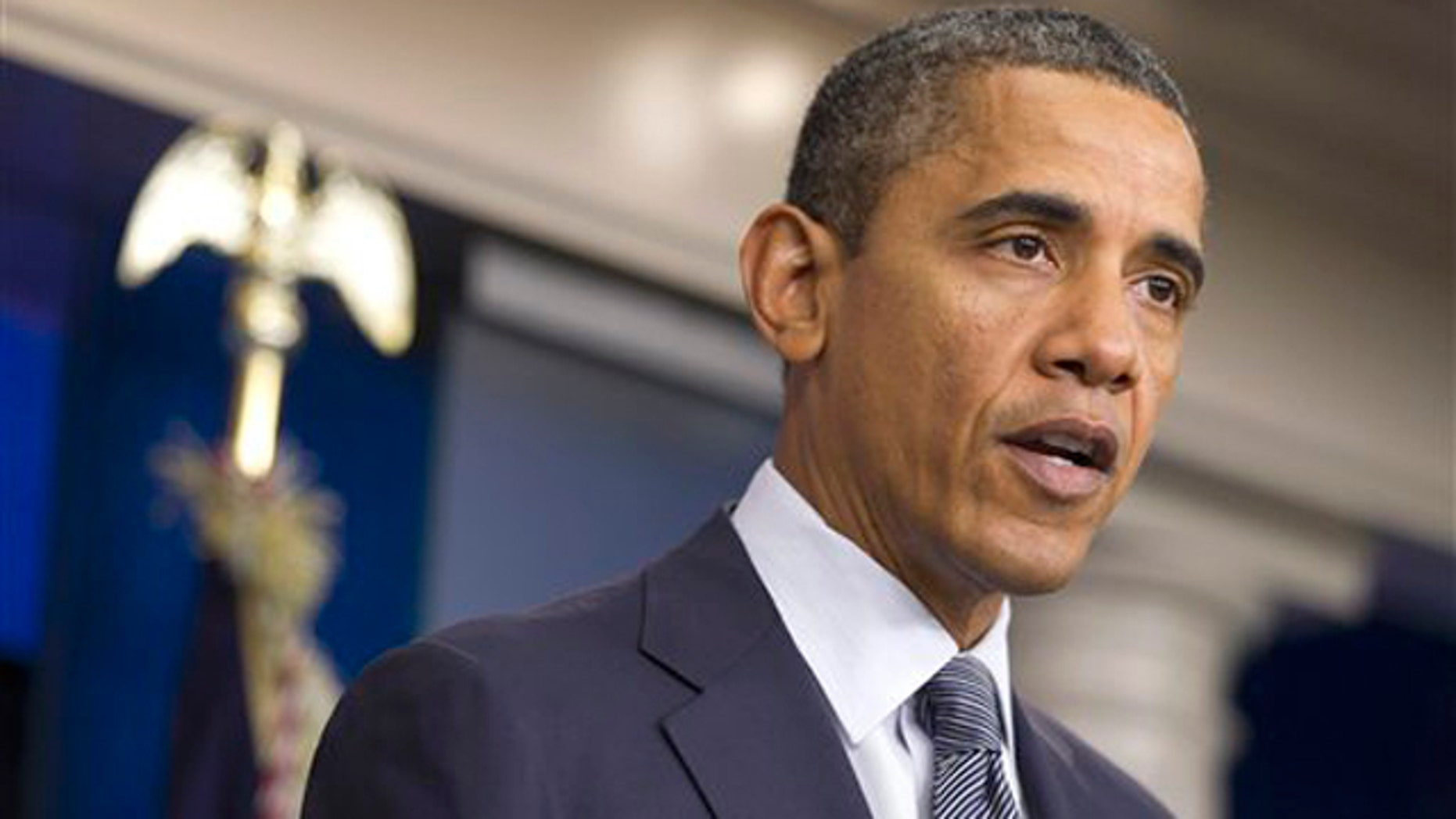 In this Oct. 21 file photo, President Obama speaks in the briefing room of the White House.