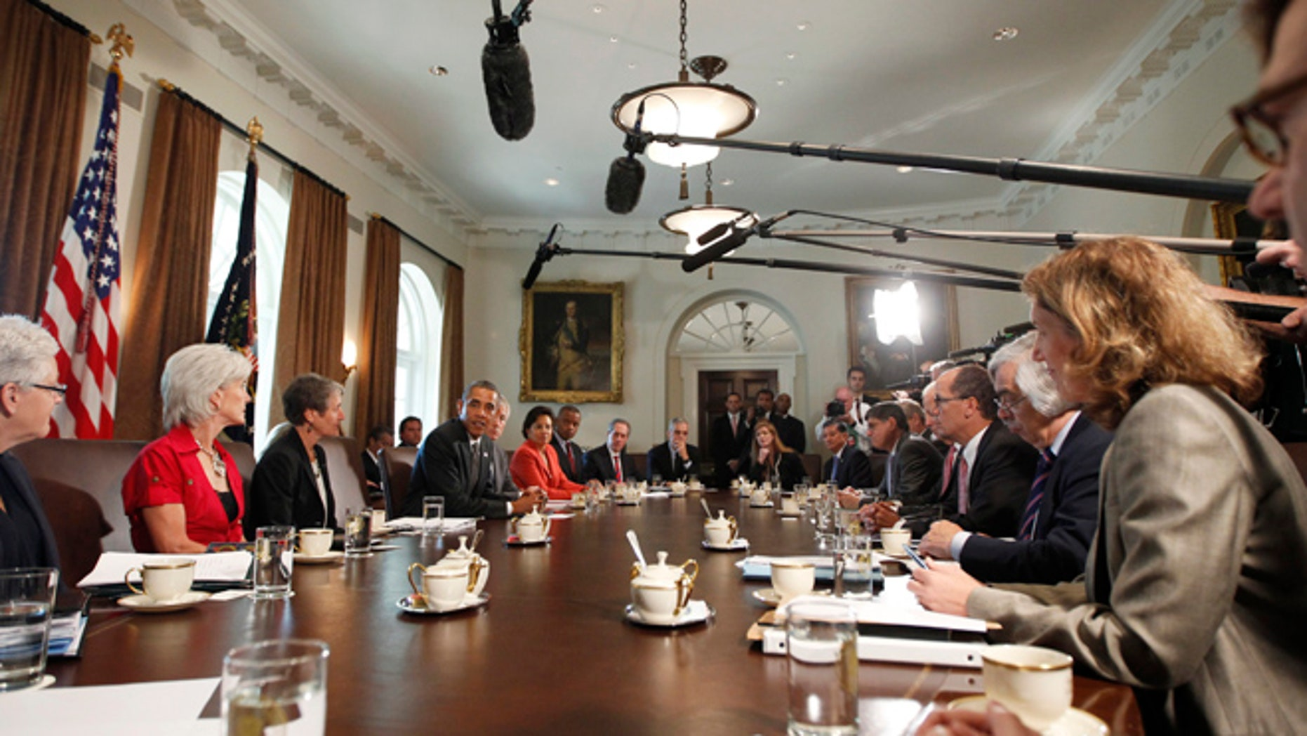 Sept. 12, 2013: President Obama speaks during a Cabinet meeting in the West Wing of the White House in Washington.
