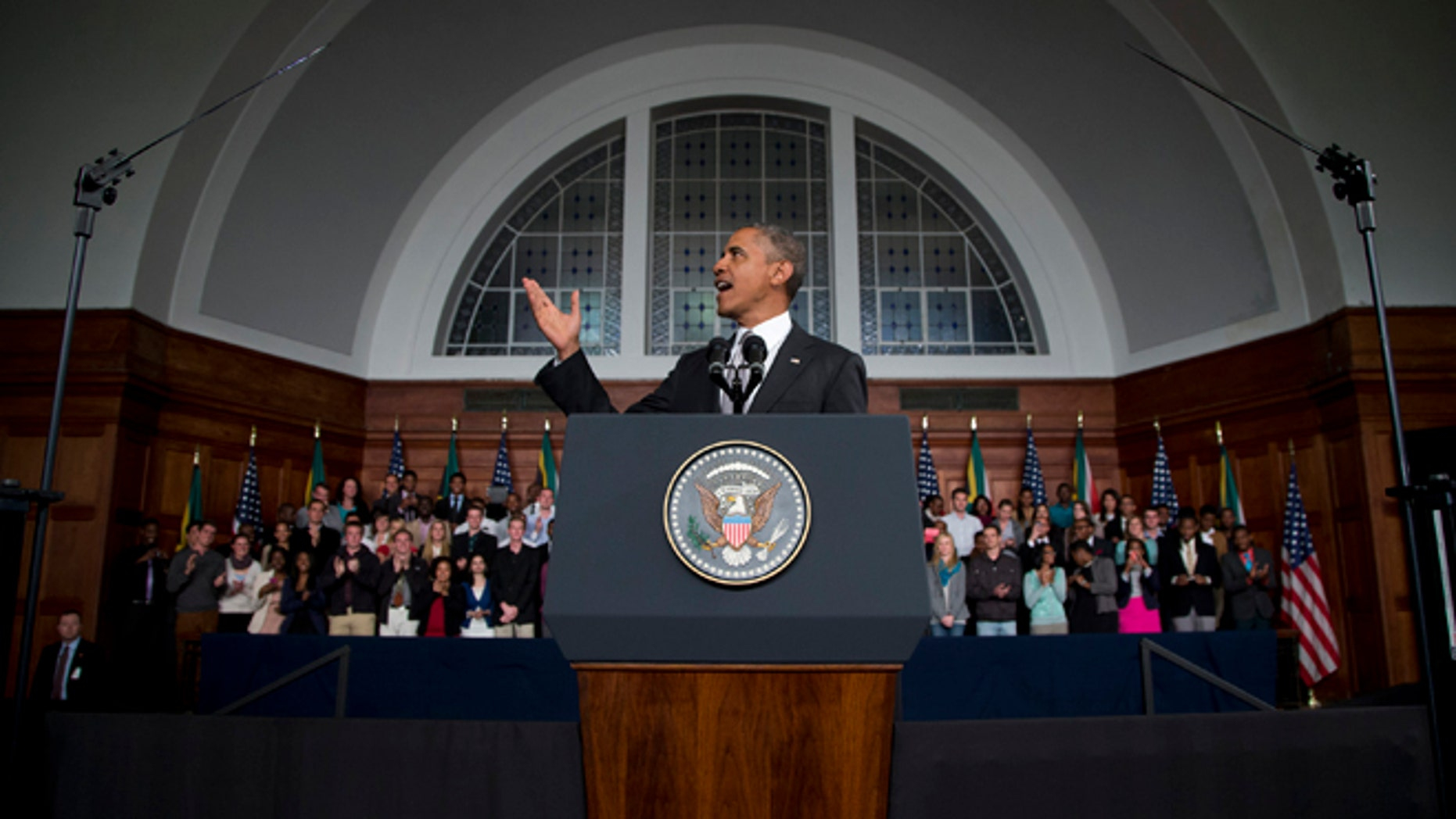 June 30, 2013: President Obama speaks at the University of Cape Town in Cape Town, South Africa.