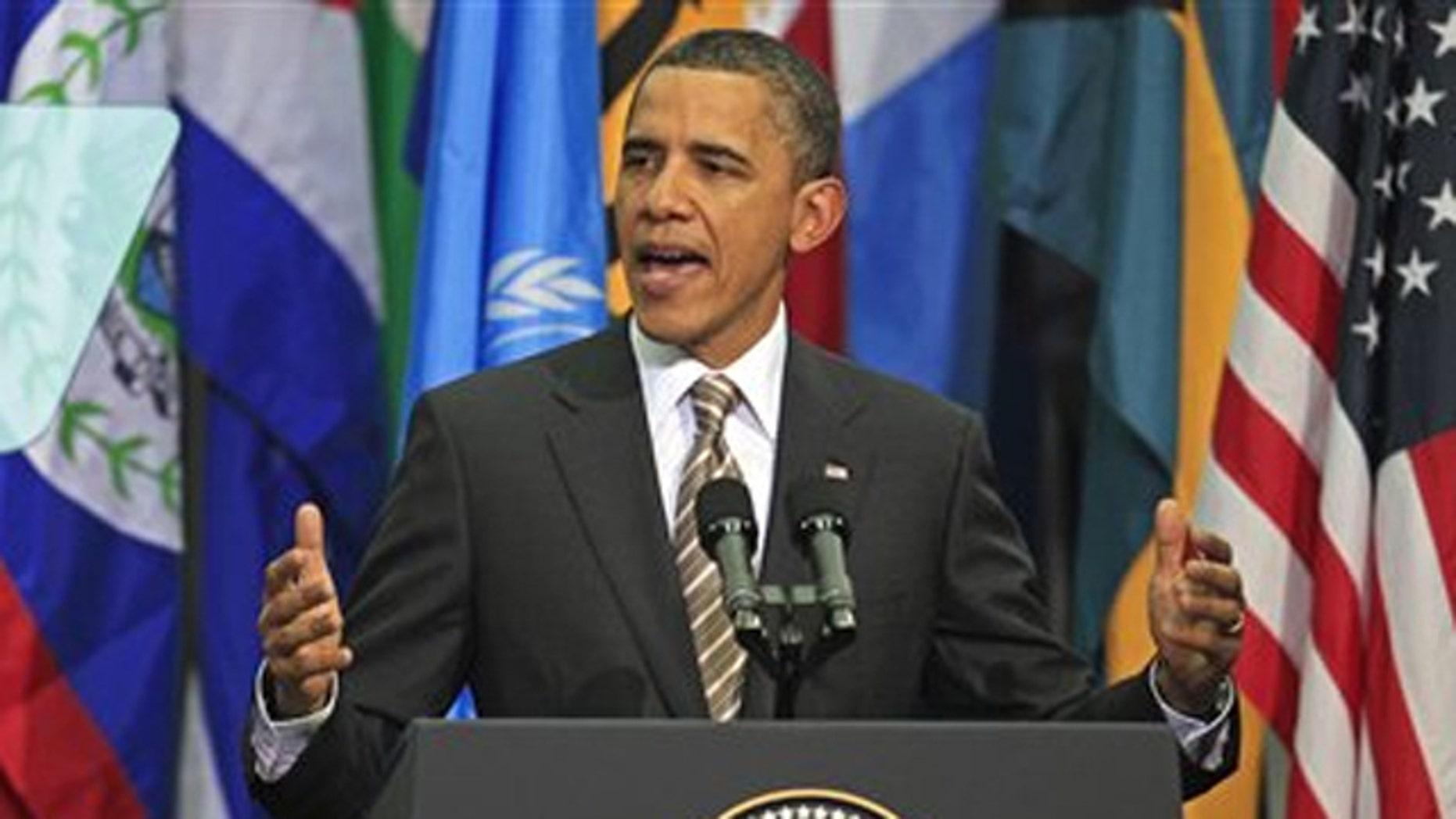 Monday: President Obama delivers a speech at Centro Cultural La Moneda Palace in Santiago, Chile.