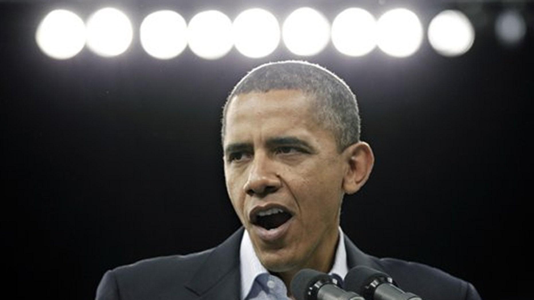 Sunday: President Obama speaks at a rally at Cleveland State University.
