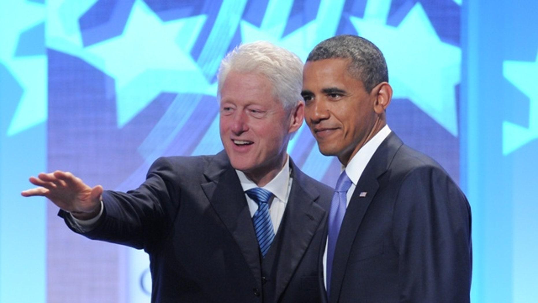 Former President Bill Clinton with President Barack Obama in New York Sept. 23, 2010 (AP)