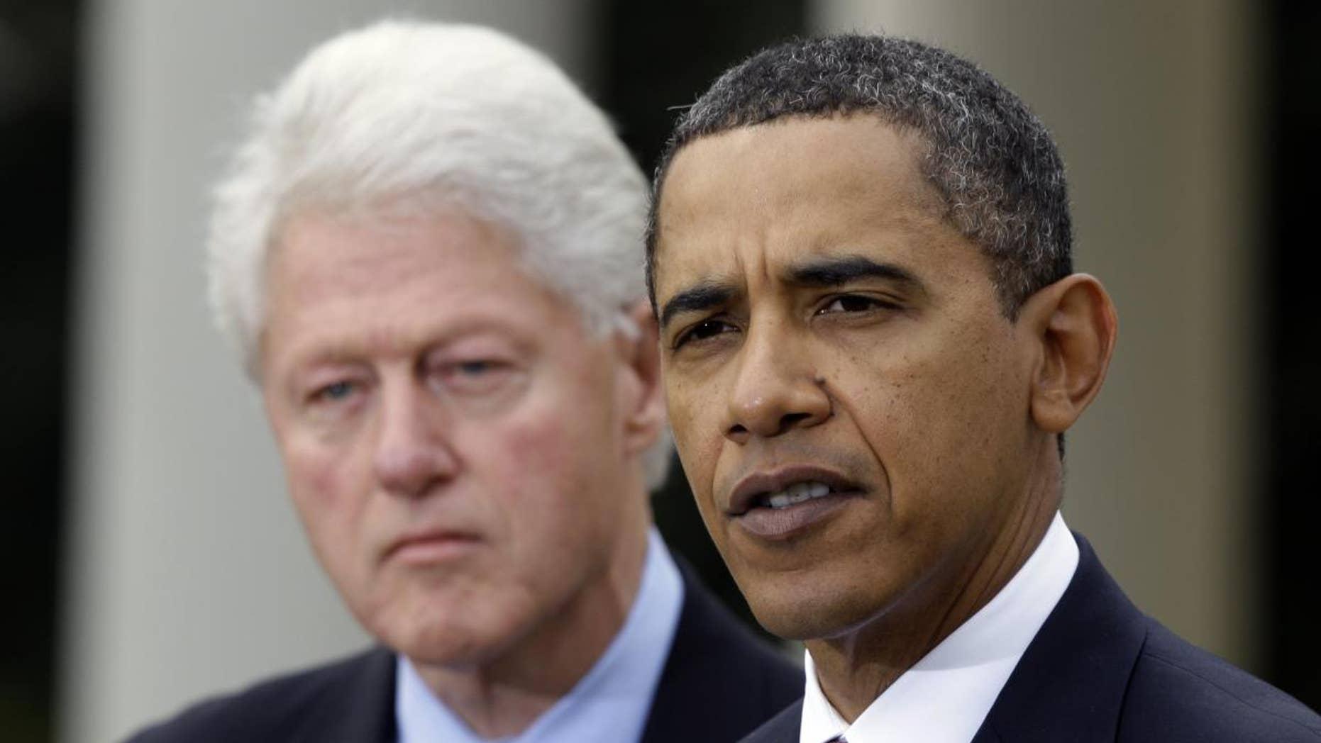 Former President Bill Clinton and President Barack Obama (AP File)