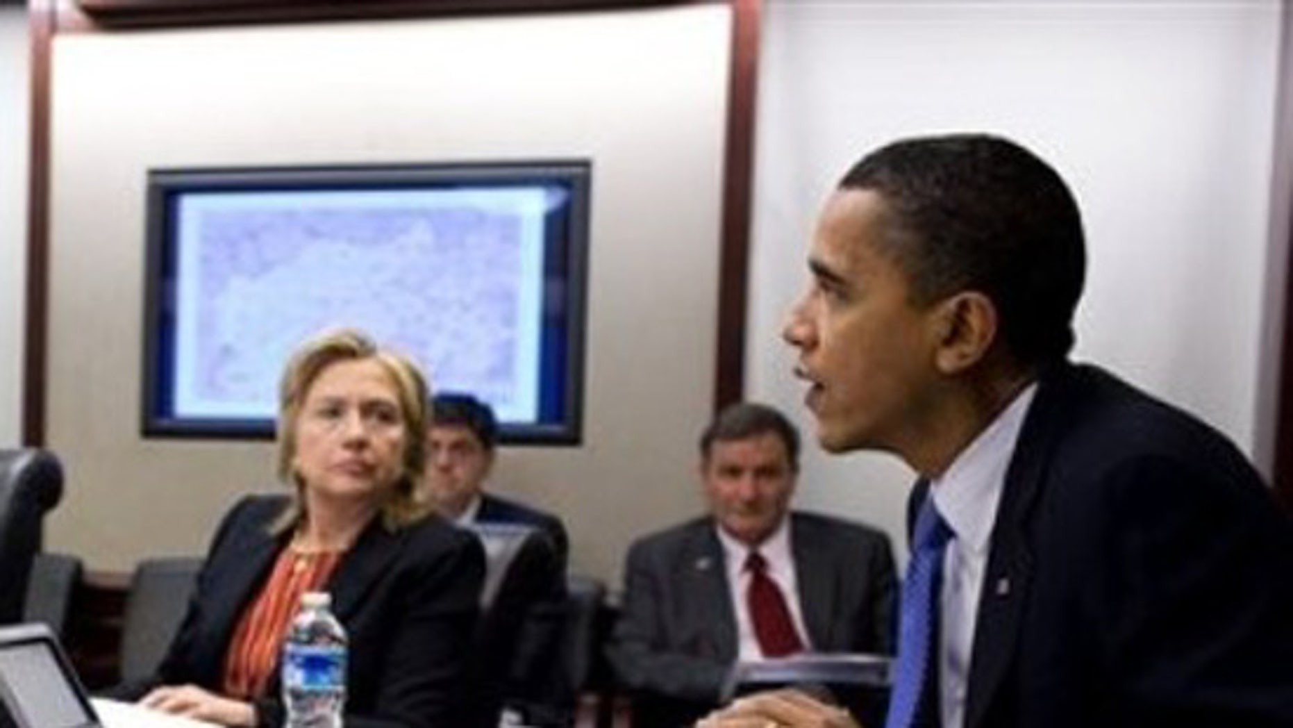 This photo provided by the White House shows President Obama meeting with his national security team, Friday, March 12, 2010, in the Situation Room of the White House. (AP)