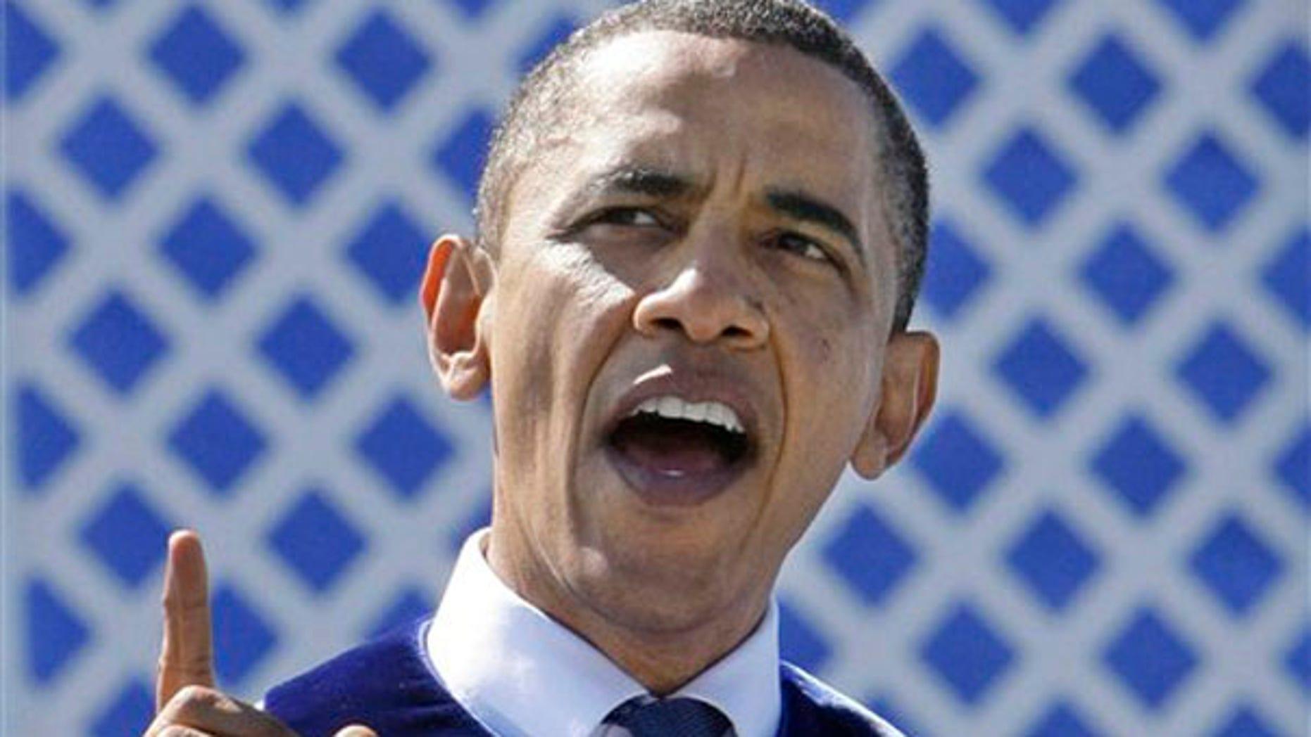 President Obama addresses graduates of Hampton University in Hampton, Va., May 9. (AP Photo)