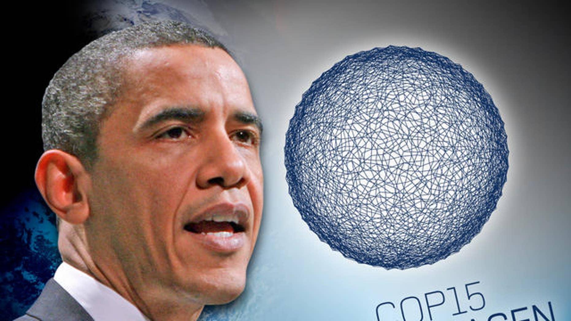 President Obama speaks at a climate change conference in Copenhagen, Denmark (AP)