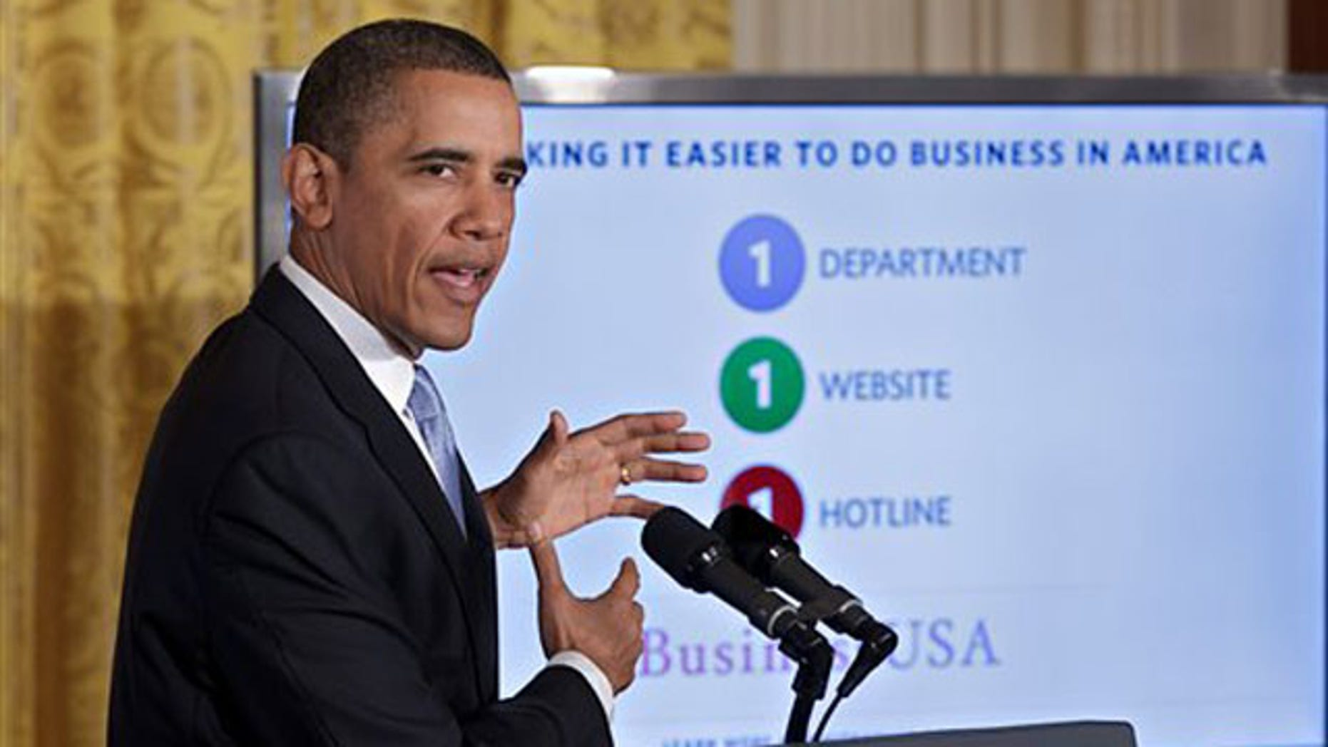 Jan. 13, 2012: President Obama speaks about government reform at the White House in Washington, D.C.