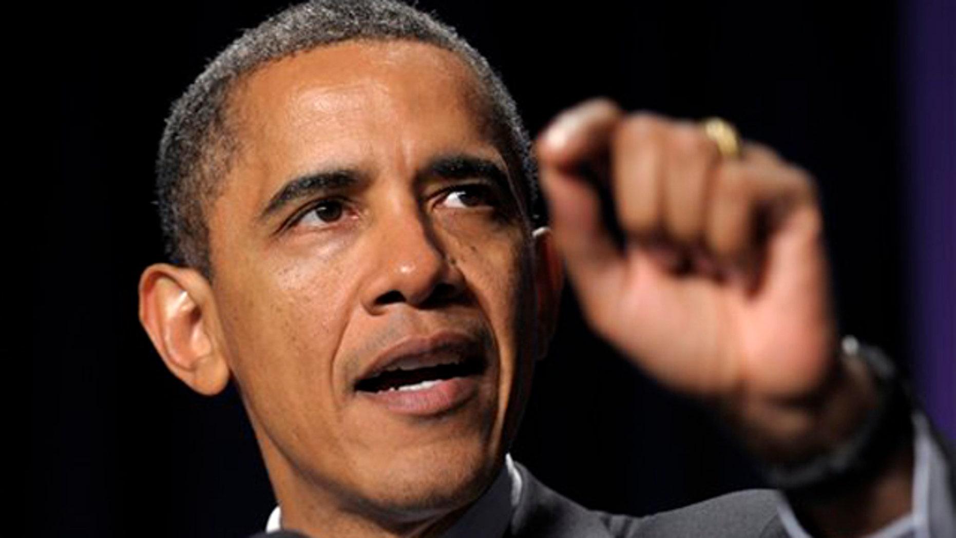 Nov. 9, 2011: President Obama speaks at the National Women's Law Center's Annual Awards dinner in Washington.