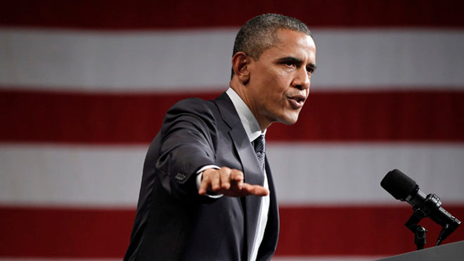 May 23, 2012: President Obama speaks to supporters at a campaign fundraiser in Denver.