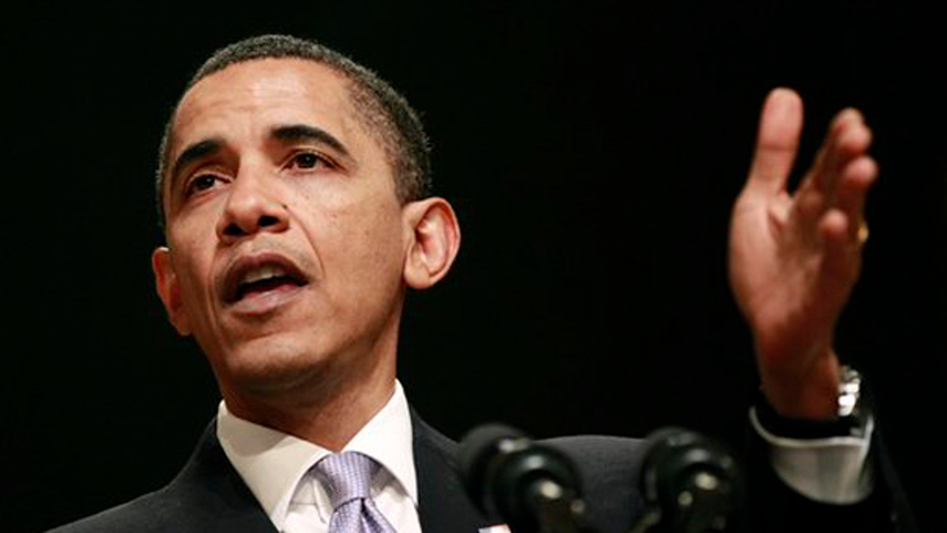 President Obama speaks at a Democratic National Committee fundraiser in Miami April 15. (AP Photo)