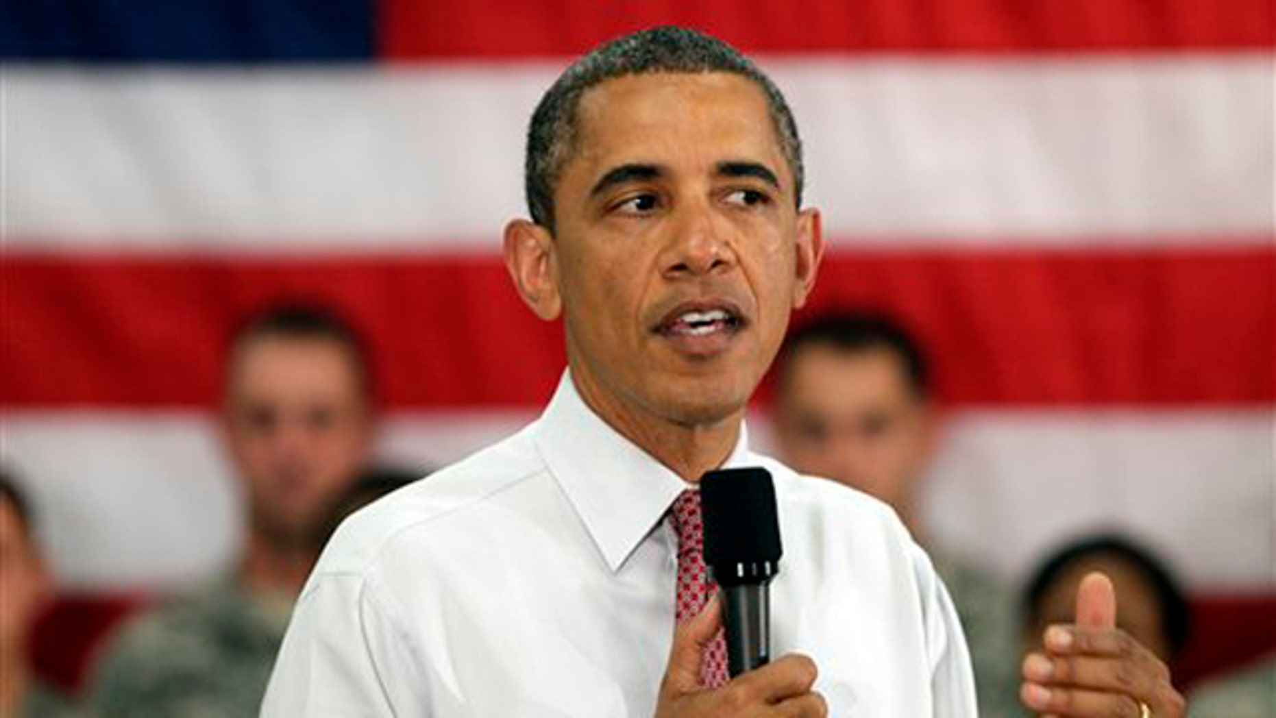 President Obama speaks to soldiers from the 10th Mountain Division June 23 in Fort Drum, N.Y.