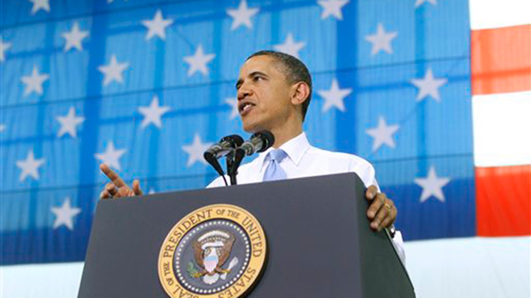 President Obama addresses military personnel who have recently returned from Afghanistan May 6 at Fort Campbell, Ky.