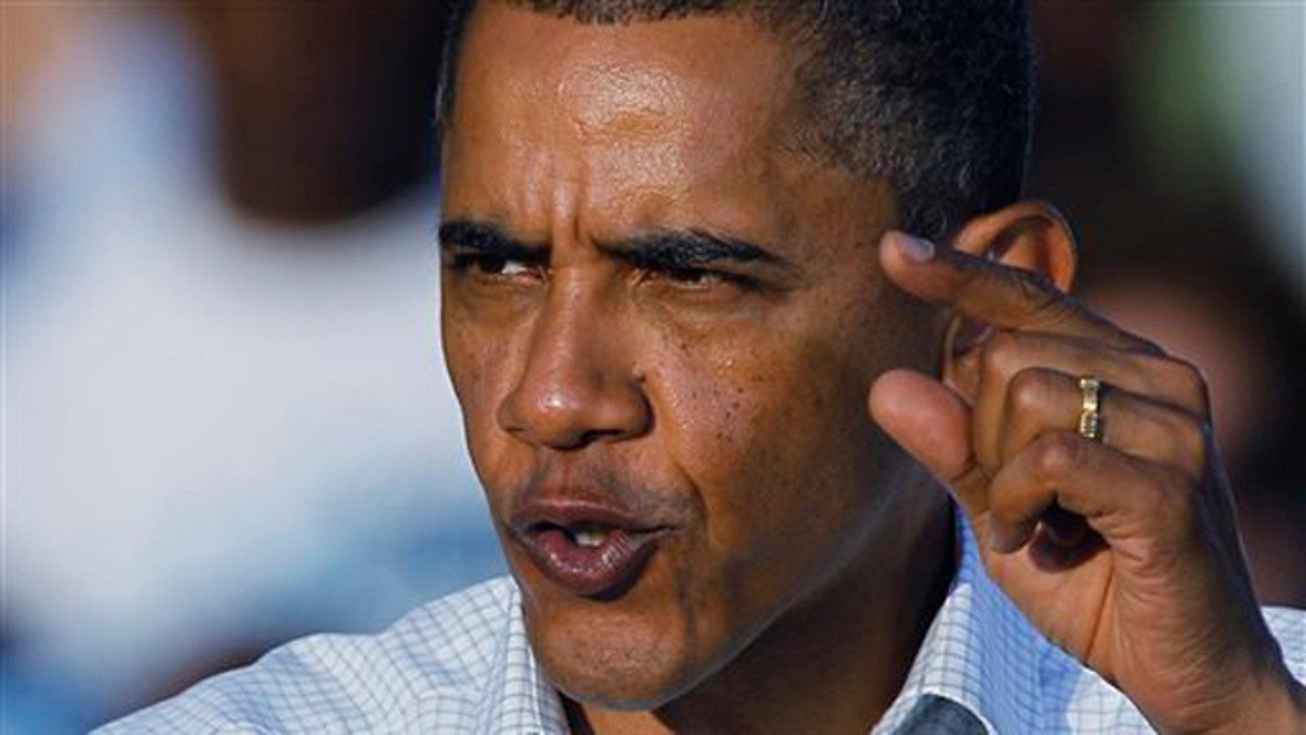 President Obama speaks at a rally in Philadelphia Oct. 10. (AP Photo)