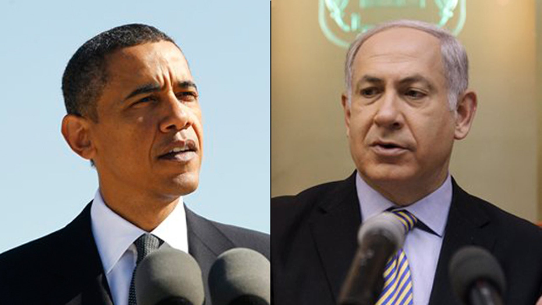 Shown here are President Obama and Israeli Prime Minister Benjamin Netanyahu. (AP Photos)