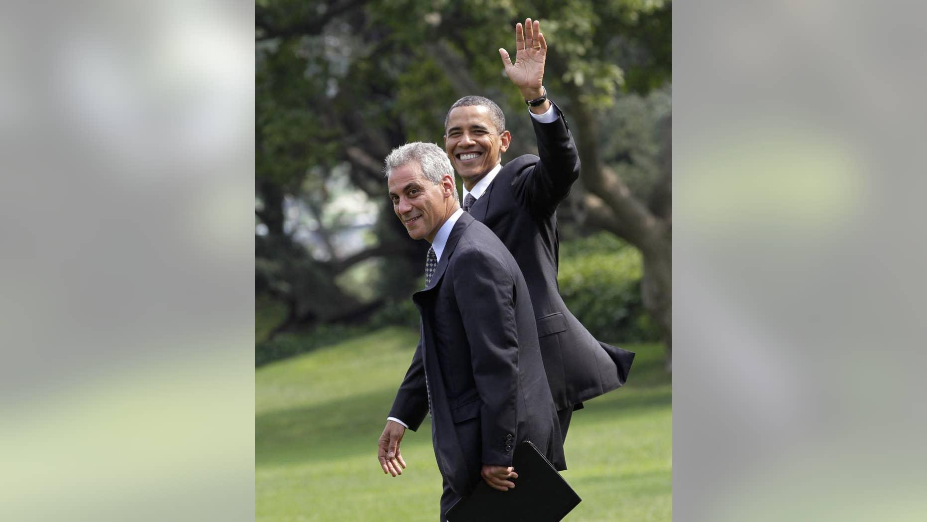 President Barack Obama walks with White House Chief of Staff Rahm Emanuel (AP File)