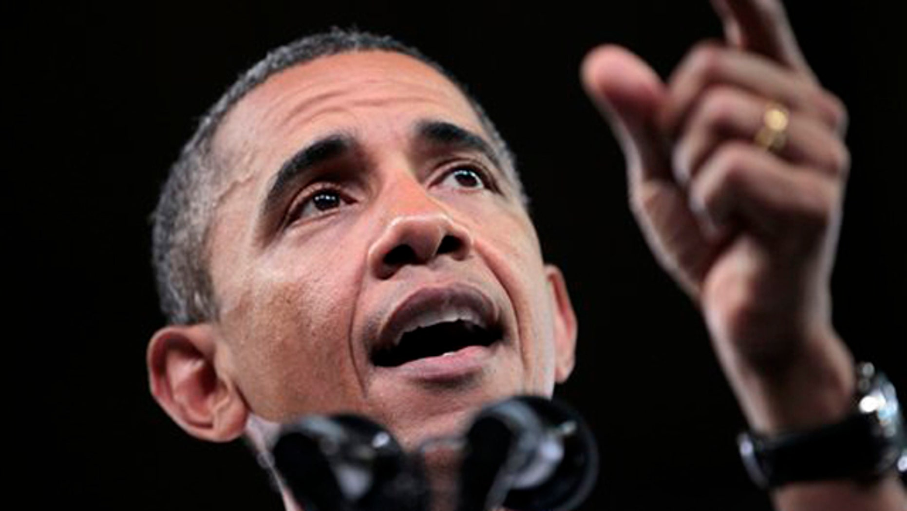 President Obama gestures as he speaks on his American Jobs Act legislation Sept. 14 at North Carolina State University in Raleigh, N.C.