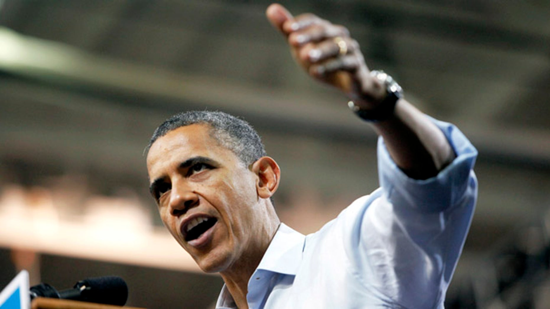 May 5, 2012: President Obama speaks during a campaign rally at the Siegel Center in Richmond, Va.