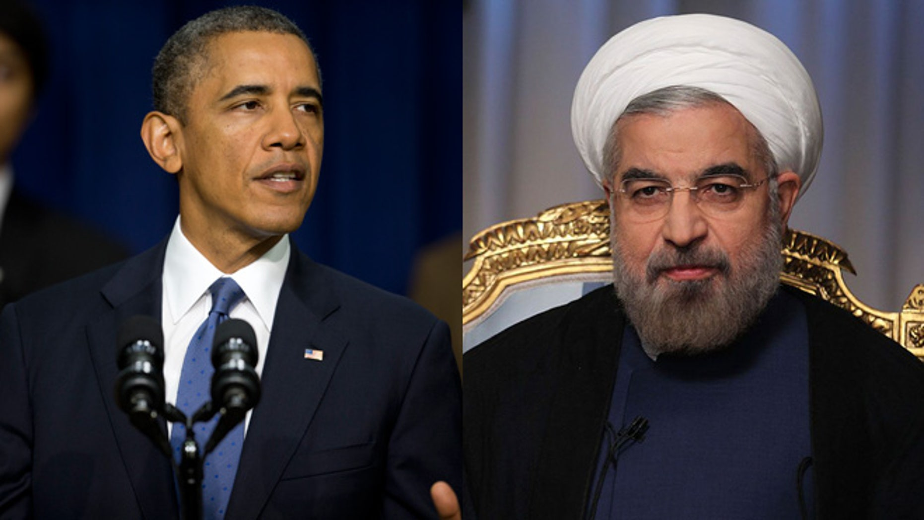Shown here are President Obama and Iranian President Hassan Rowhani.