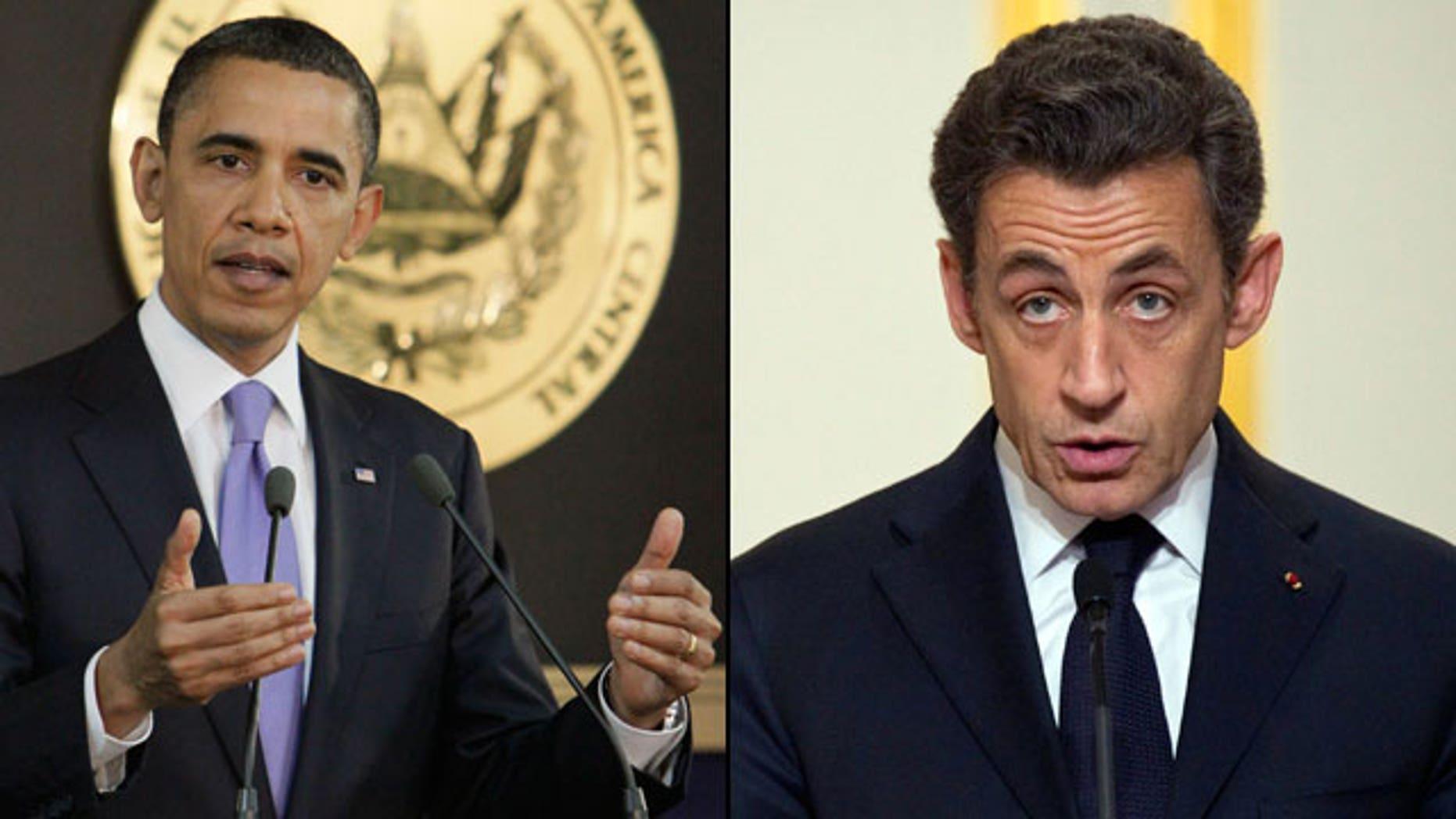 U.S. President Obama and French President Nicolas Sarkozy. (AP)