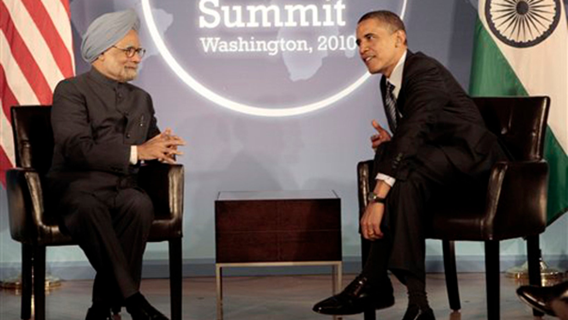 President Obama meets with India's Prime Minister Manmohan Singh in advance of the Nuclear Security Summit in Washington April 11. (AP Photo)