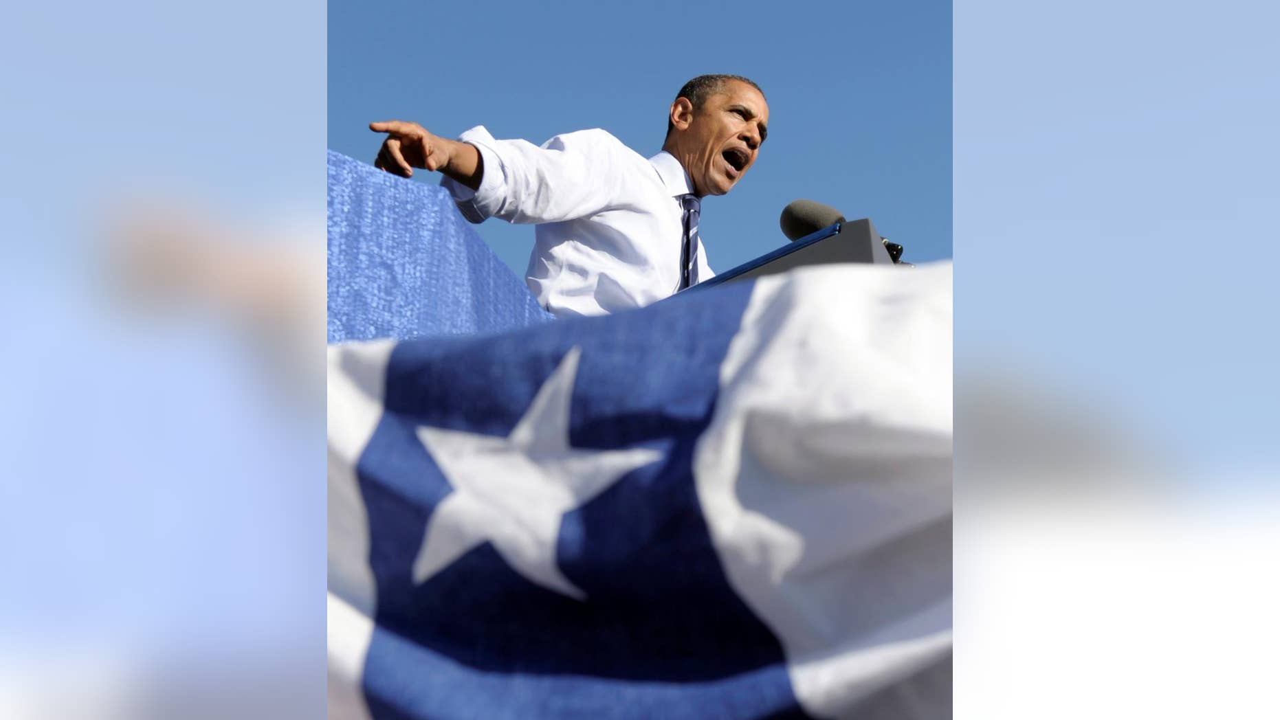 President Barack Obama speaks at a campaign rally for Maryland Gov. Martin O'Malley,Thursday, Oct. 7, 2010, at Bowie State University in Bowie, Md. (AP Photo/Susan Walsh)