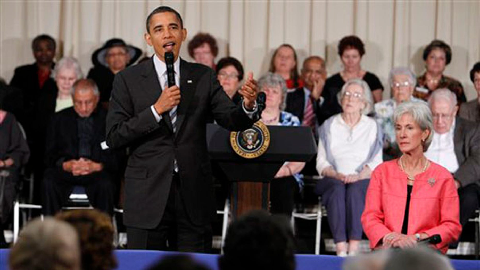 President Obama speaks during a town hall meeting June 8 at the Holiday Park Multipurpose Senior Center in Wheaton, Md. (AP Photo)