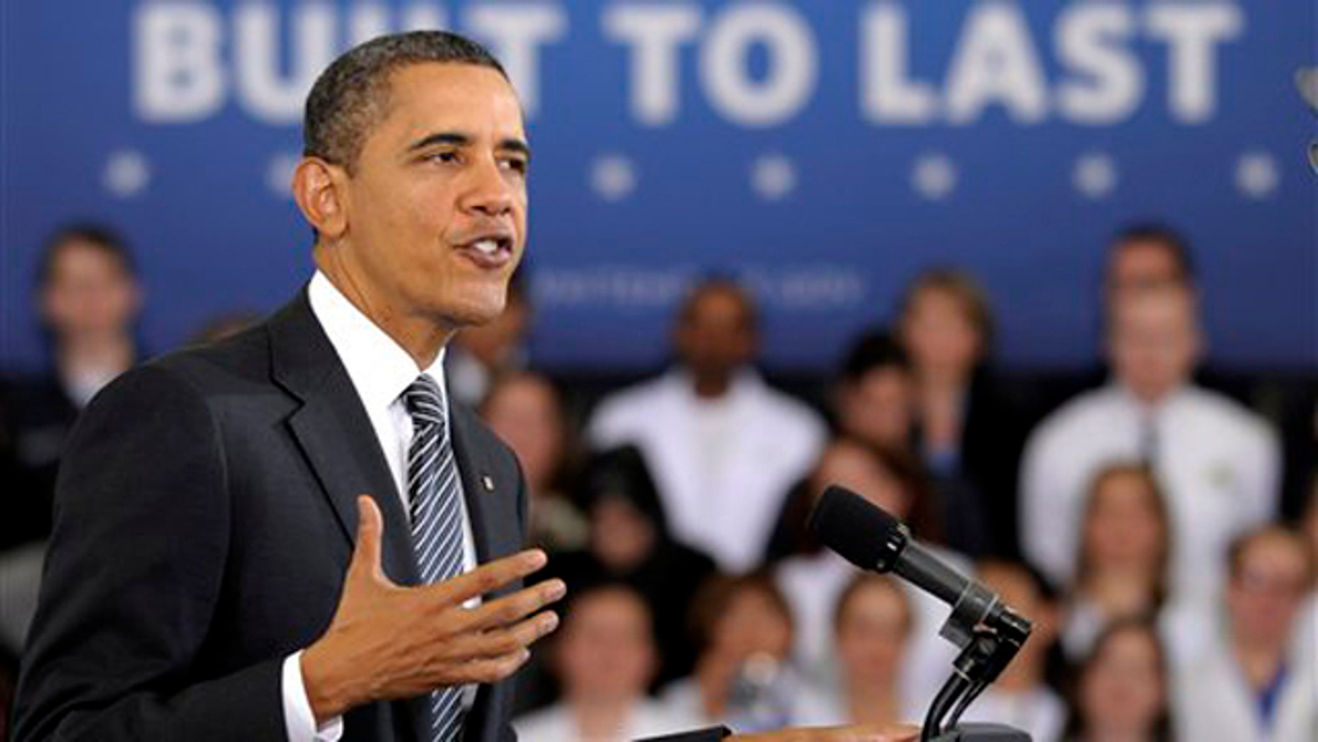 Feb. 13, 2012: President Obama discusses his 2013 budget at Northern Virginia Community College in Annandale, Va.