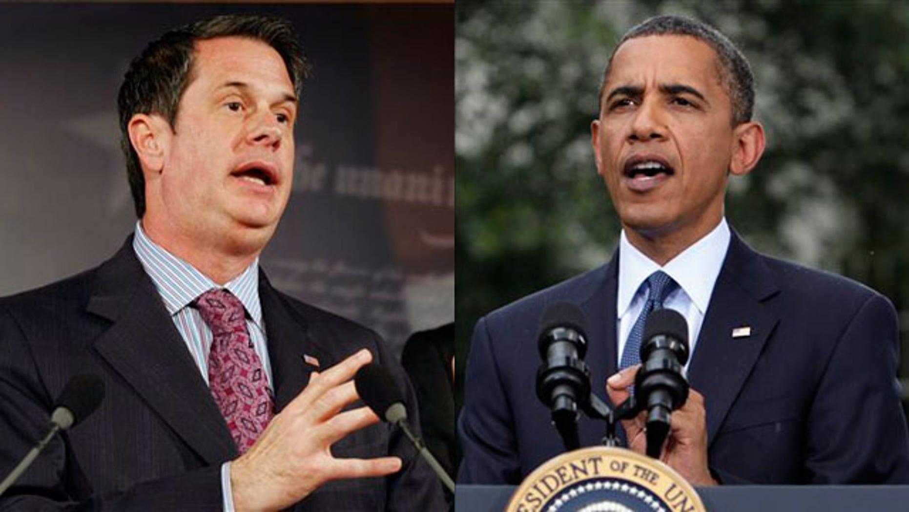 Shown here are Sen. David Vitter, left, and President Obama. (AP Photos)