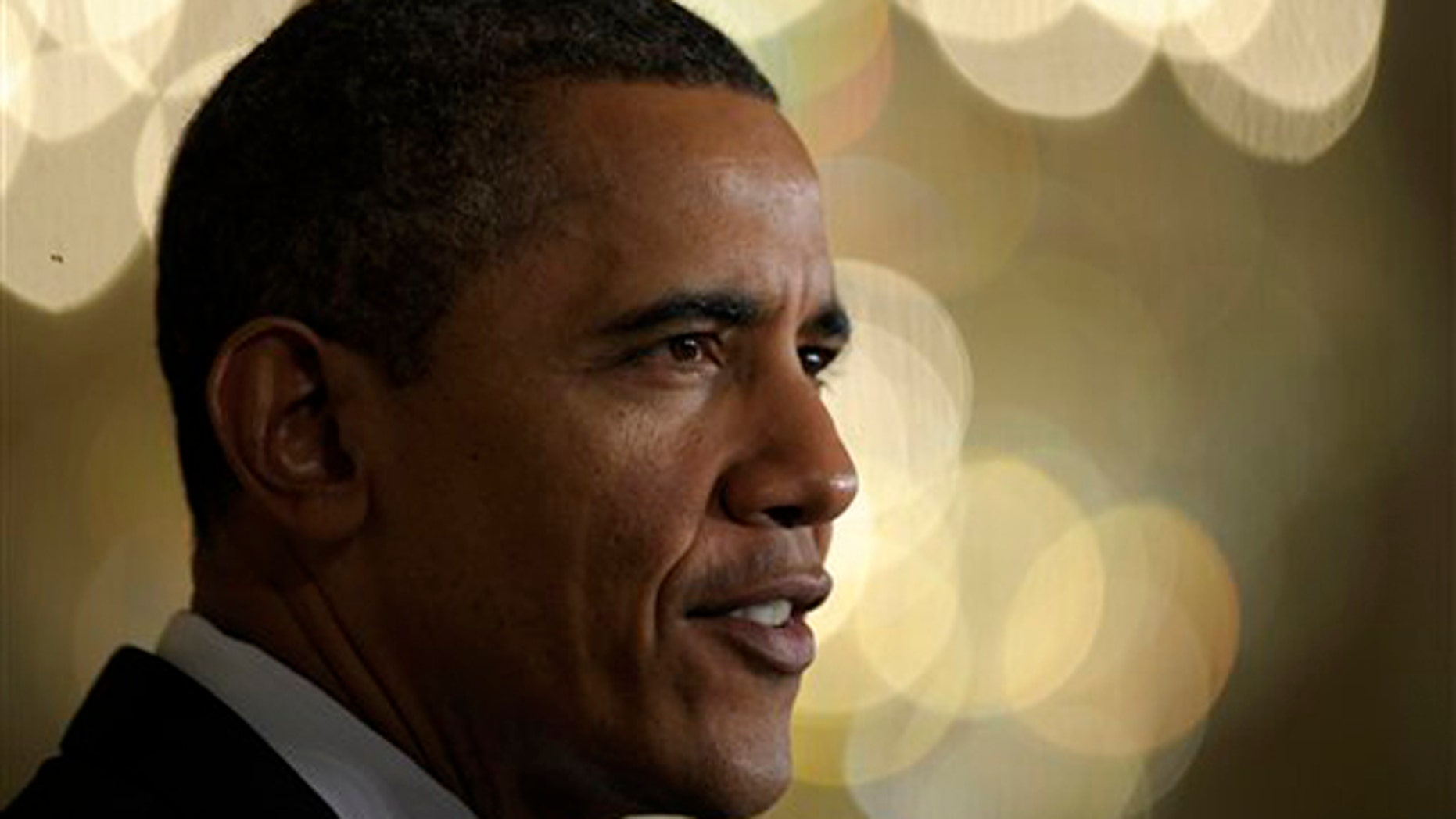 Feb. 9, 2012: President Obama speaks in the East Room of the White House.