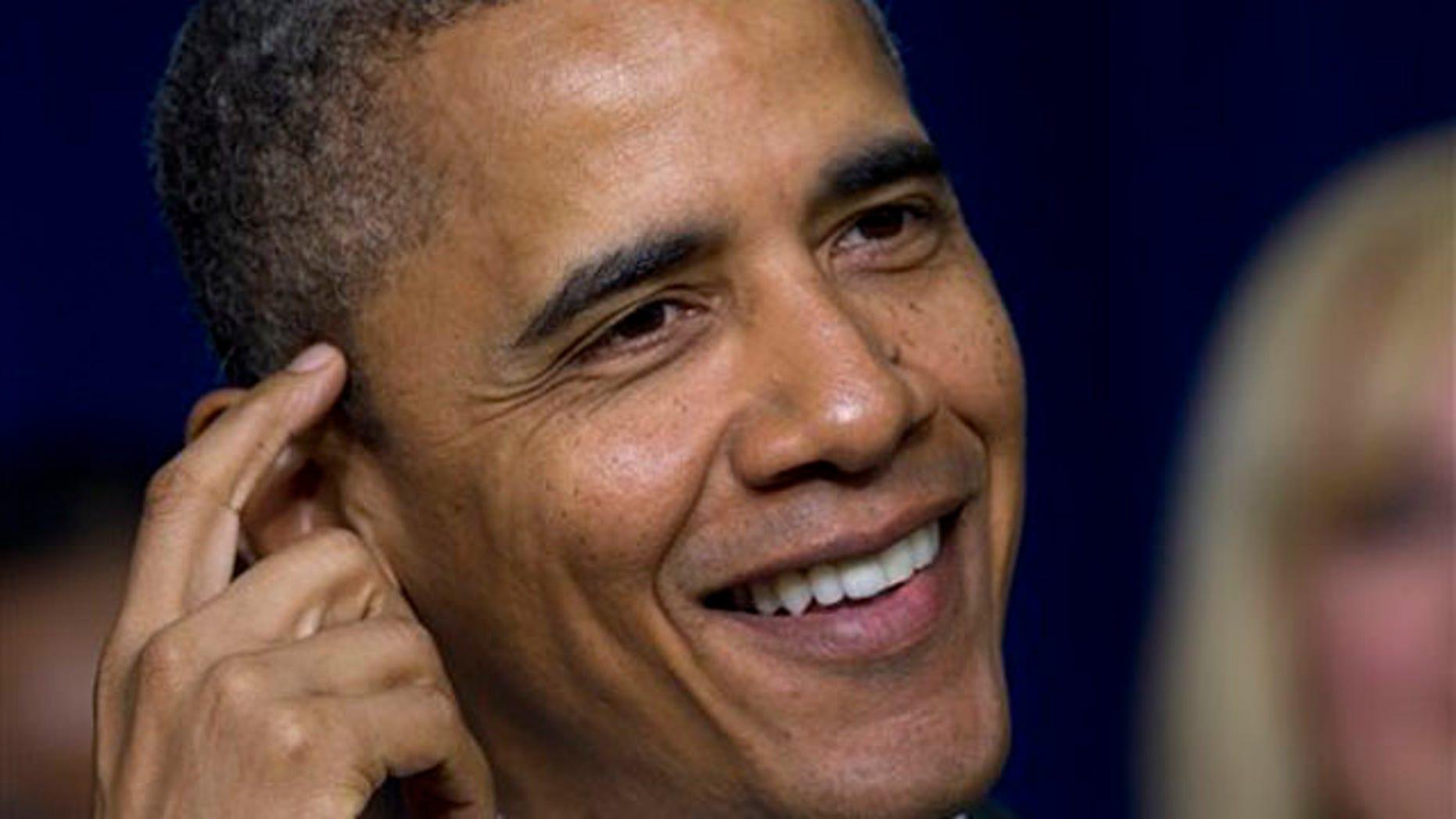 April 6, 2012: President Obama speaks at the White House.