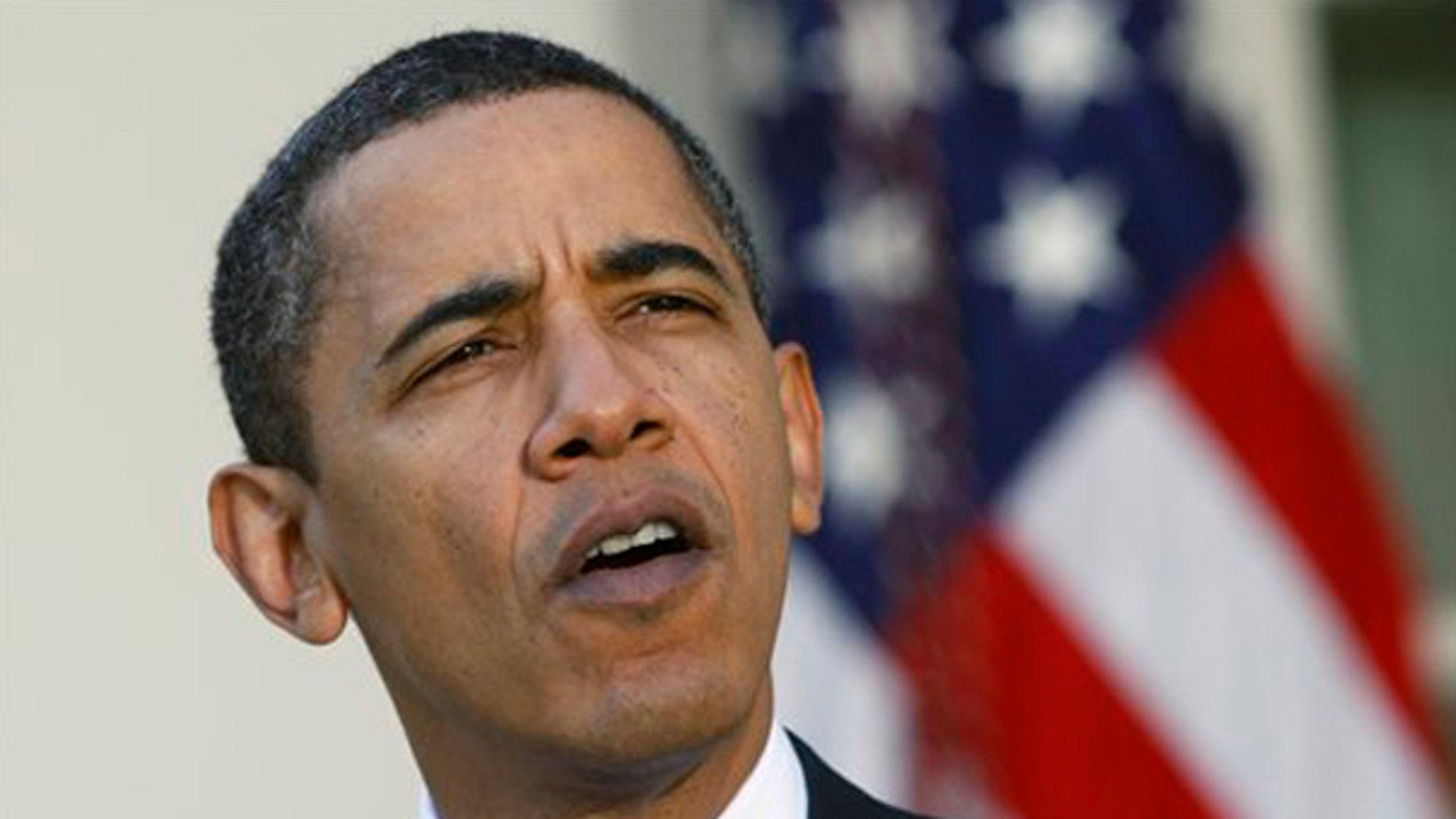 President Obama speaks in the Rose Garden Nov. 8. (AP Photo)