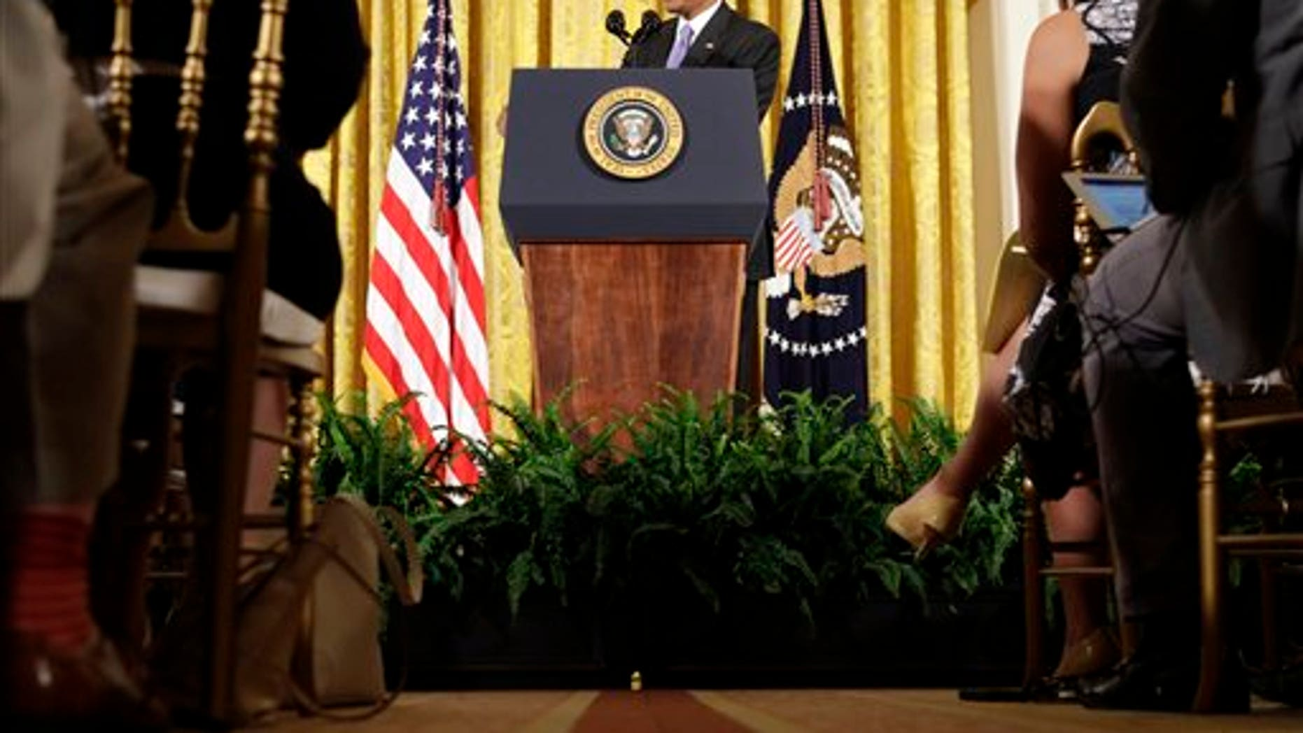 July 15, 2015: President Obama answers questions about the Iran nuclear deal during a news conference in the East Room of the White House in Washington. (AP Photo/Pablo Martinez Monsivais)
