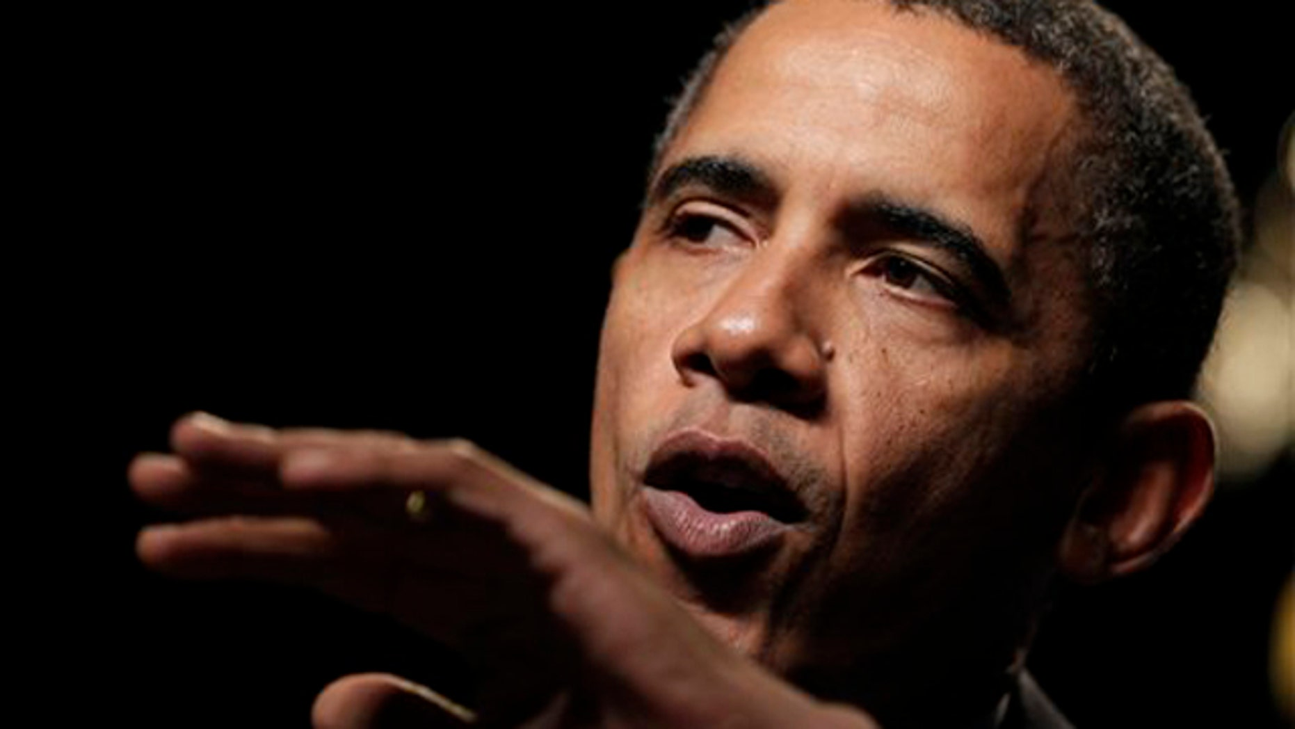 In this Aug. 16 photo, President Obama speaks at the U.S. Cellular Arena in Milwaukee. (AP Photo)
