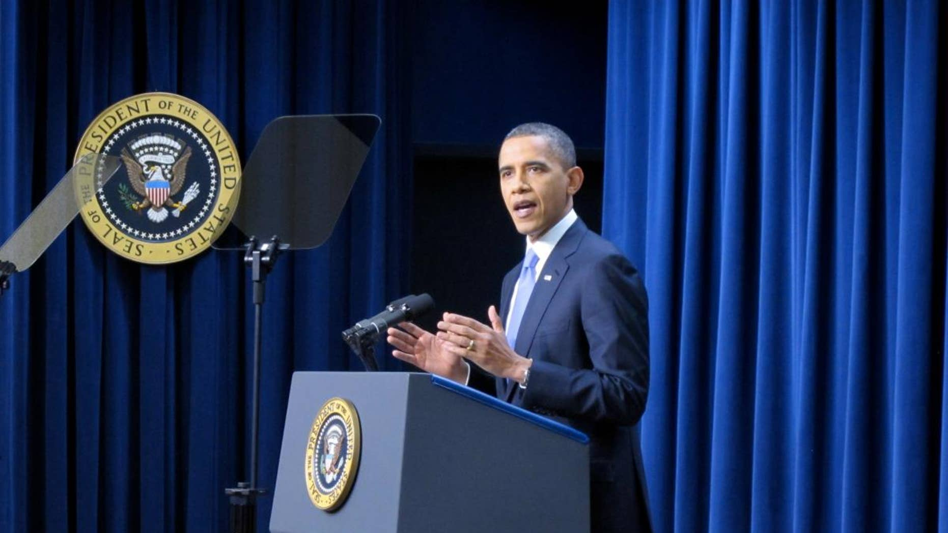 President Barack Obama delivers a year-end news conference Wednesday. (Fox News Photo)