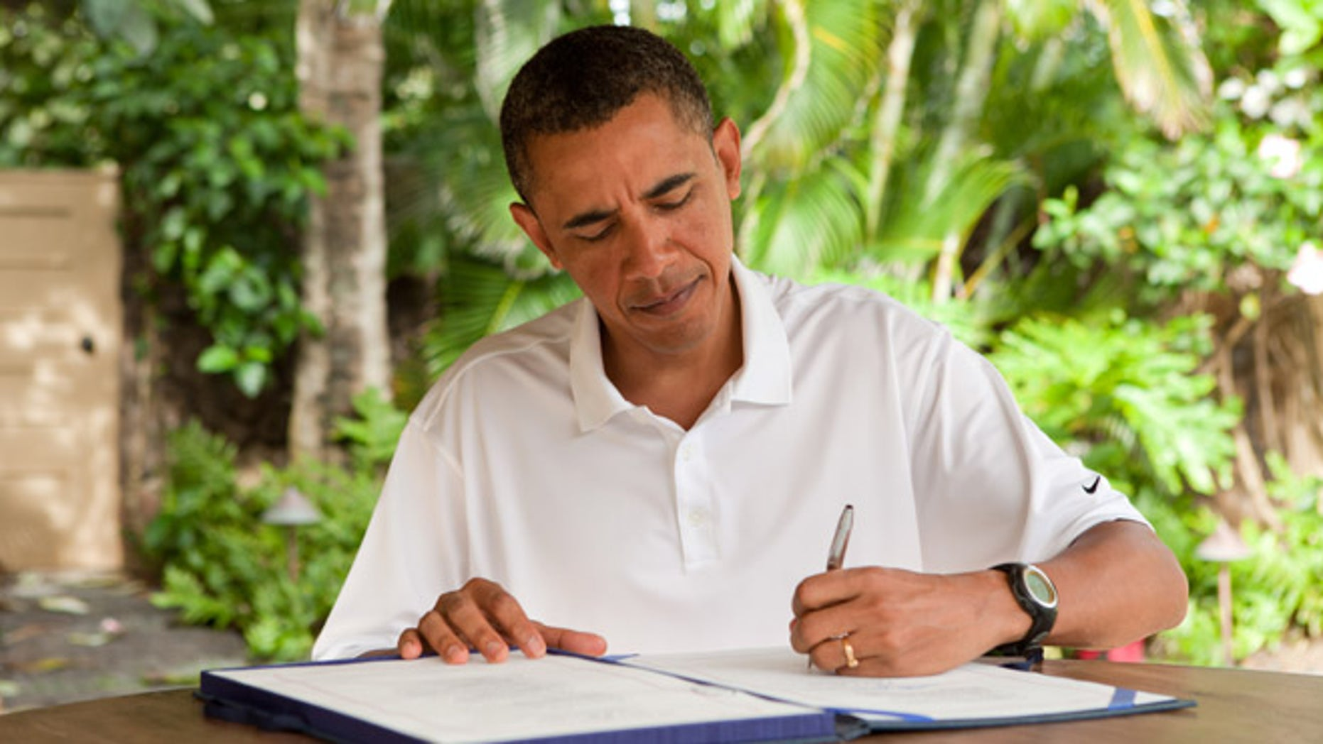 Jan. 2, 2011: President Obama signs the James Zadroga 9/11 Health and Compensation Act in Kailua, Hawaii.