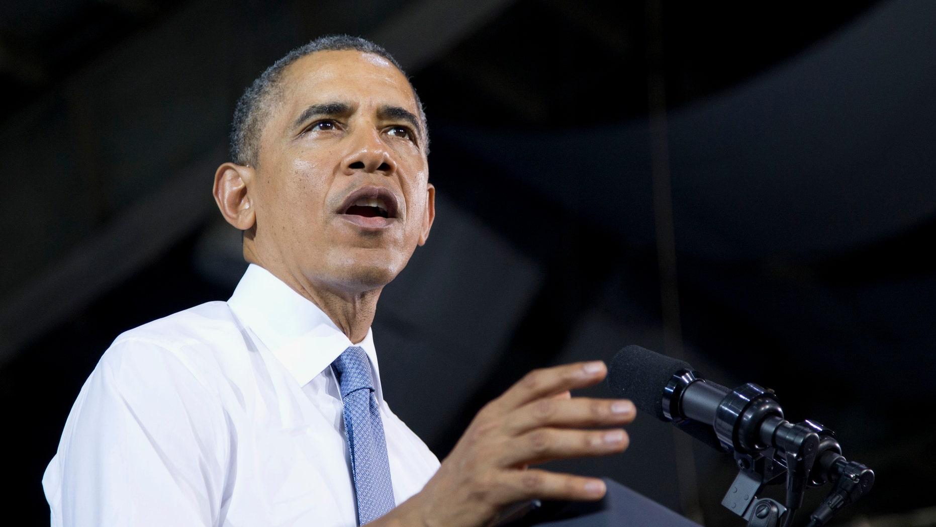 April 29, 2014: President Obama speaks at Fort Bonifacio in Taguig city, outside of Manila, Philippines.