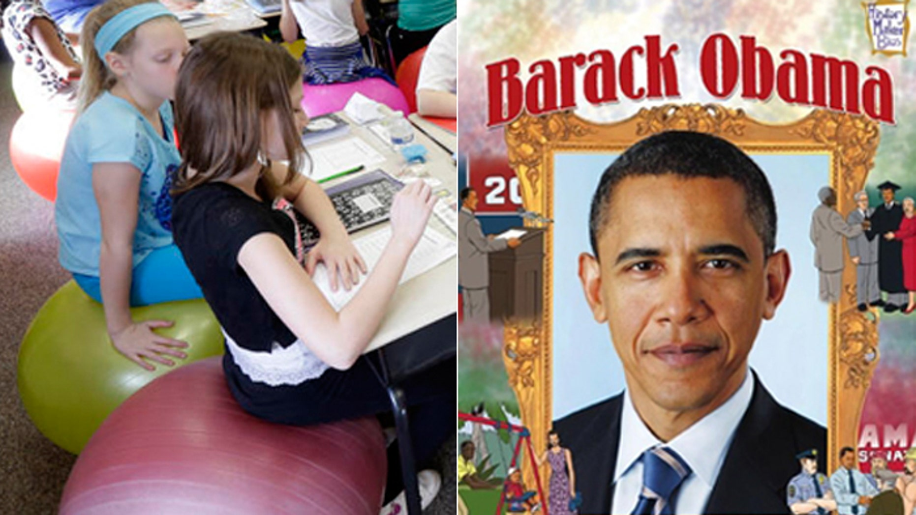 Parents and critics say a biography of President Obama being studied by children as young as fourth grade includes topics they don't need to read about.
