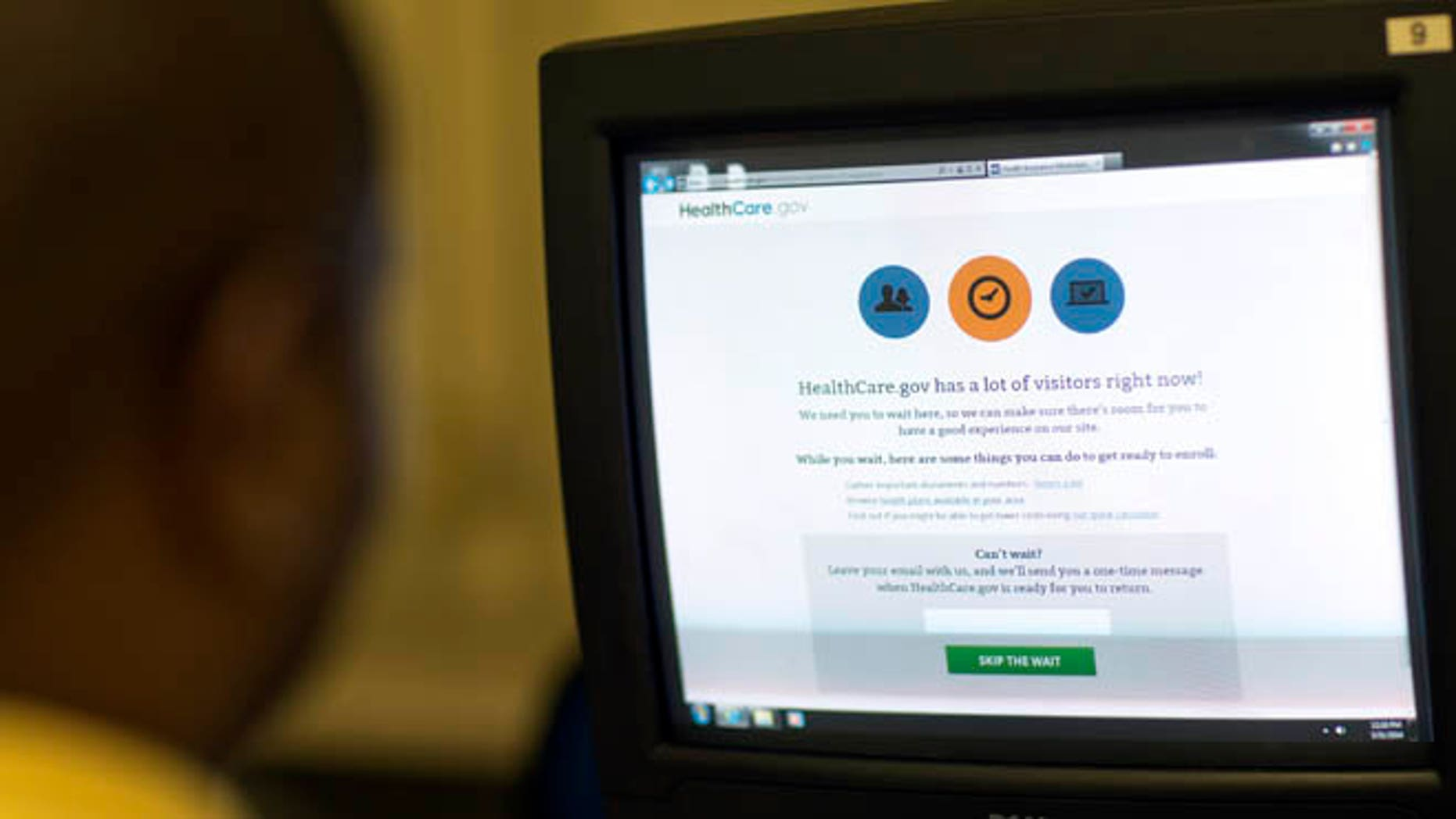 March 31, 2014: An applicant is shown trying to sign up for health insurance on Healthcare.gov.