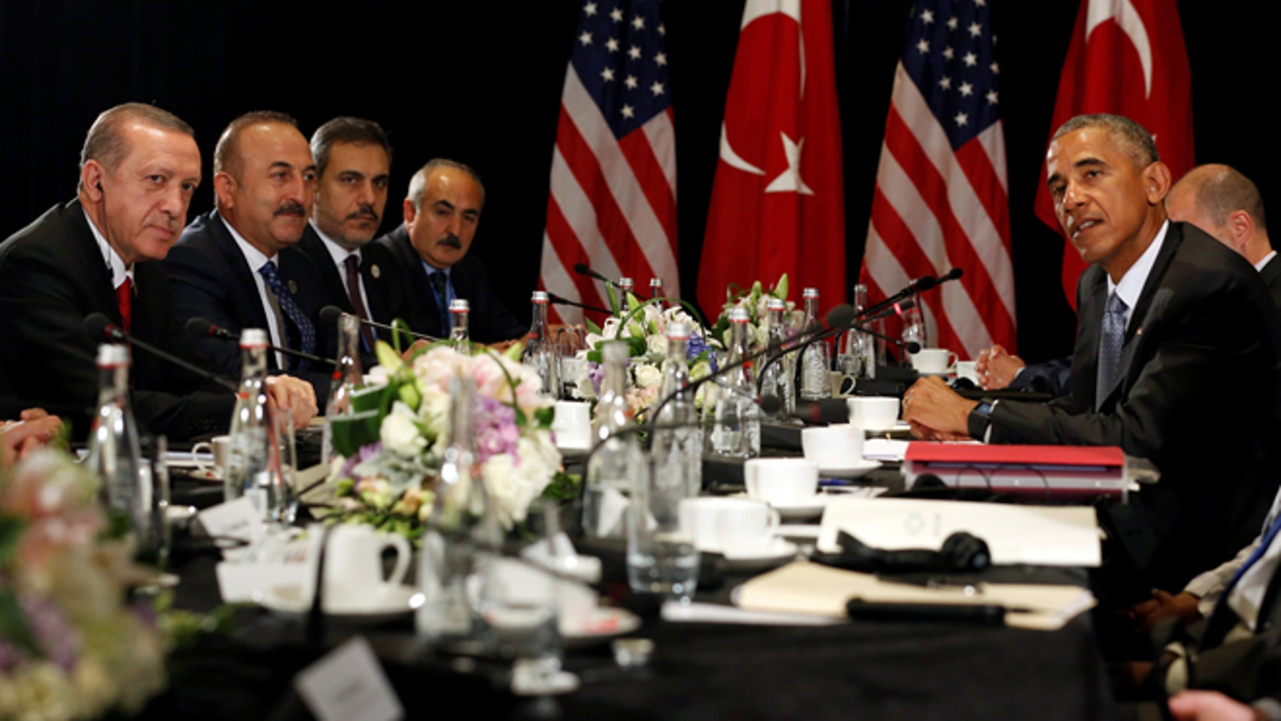 Sept. 4, 2016: President Obama (R) and Turkey's President Tayyip Erdogan (L) at the G20 Summit, in Hangzhou, China. (REUTERS)