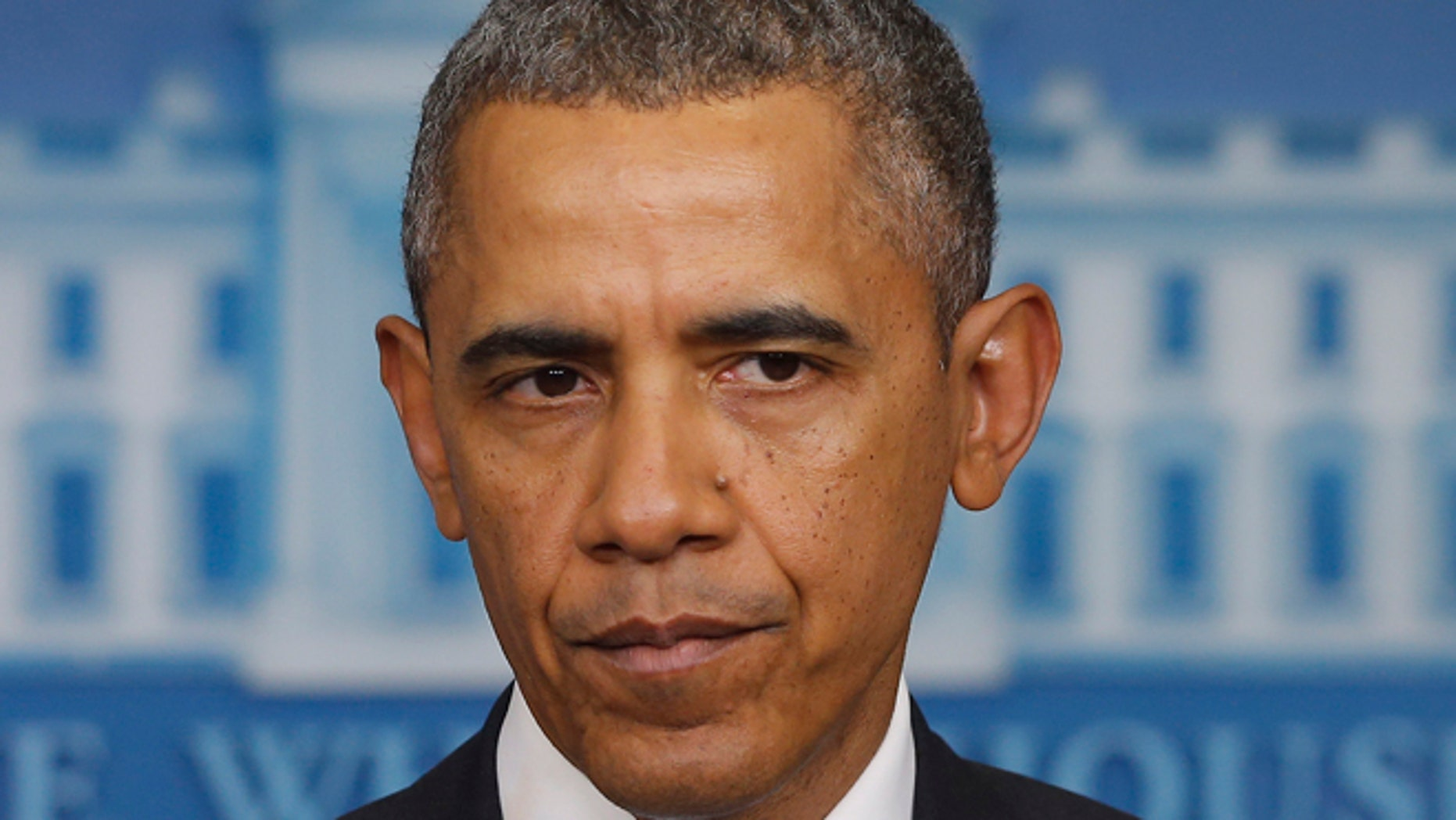 Feb. 28, 2014: President Barack Obama speaks about Ukraine in the James Brady Press Briefing Room at the White House in Washington.