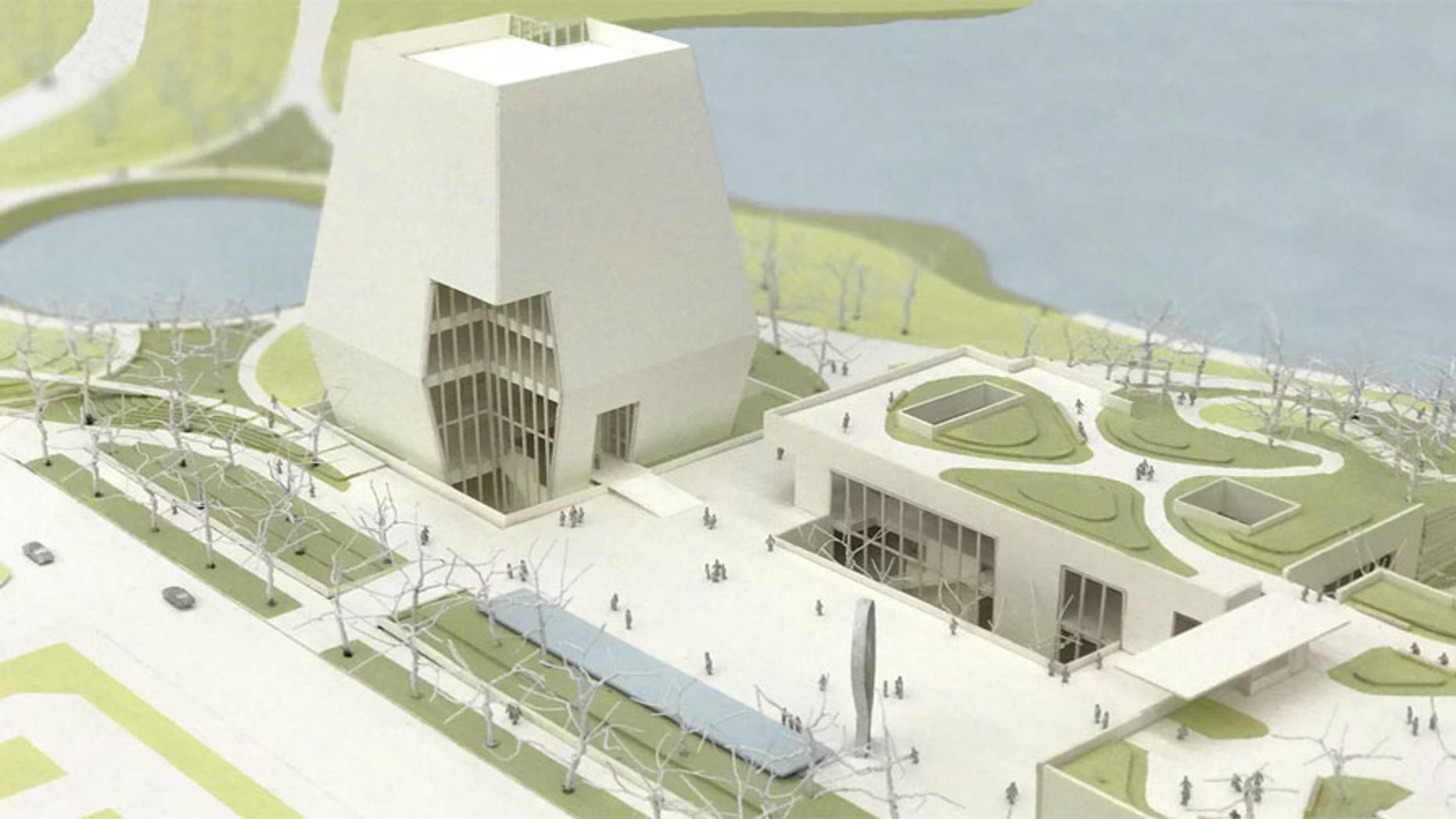 This view of the designs of the Obama Presidential Center shows the museum, the forum and the library.