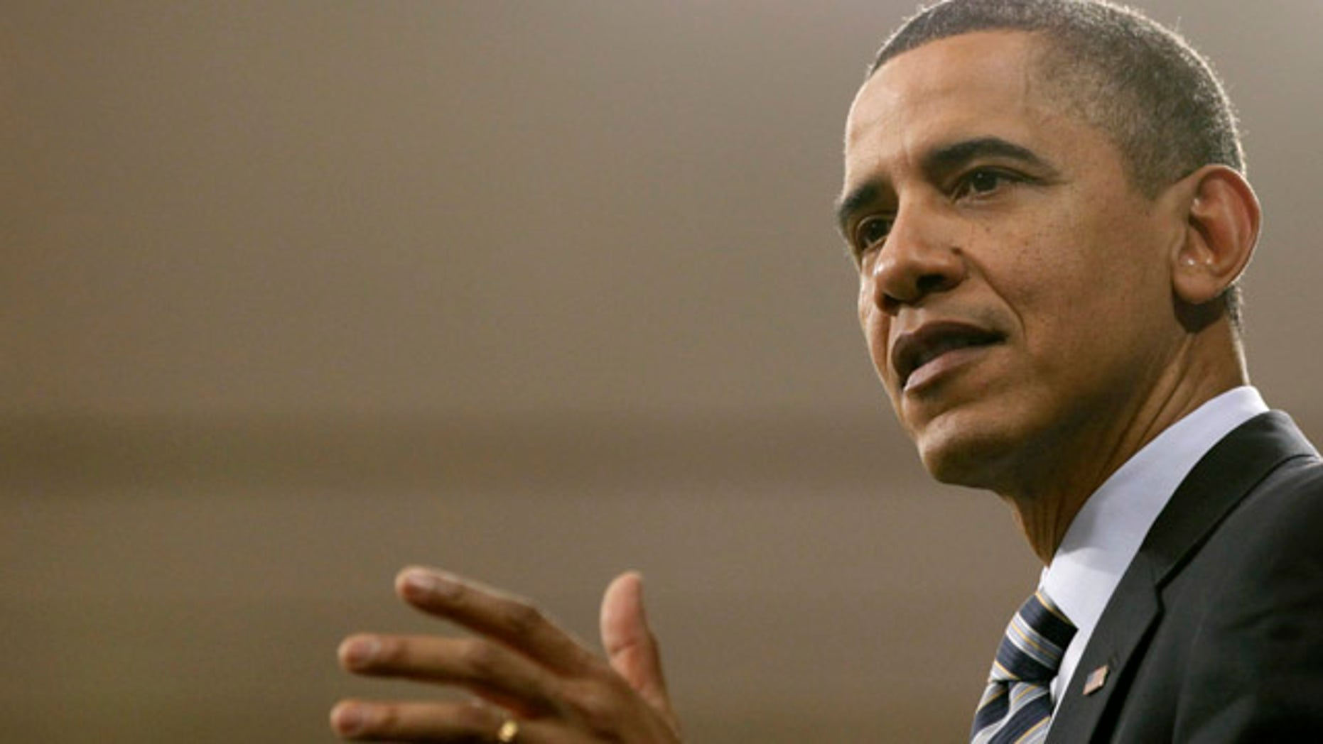 Feb. 10, 2011: President Barack Obama speaks at Northern Michigan University in Marquette, Mich.