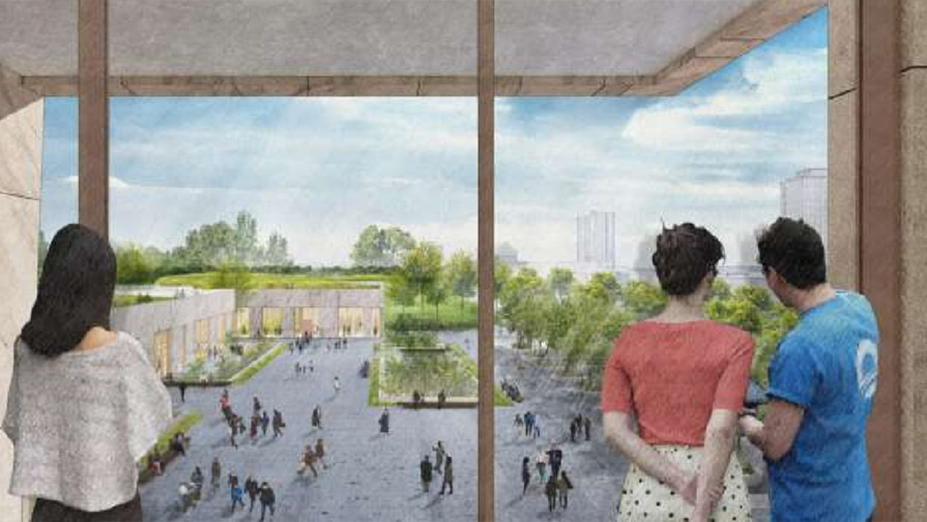 An artists impression of the Obama Presidential Center.